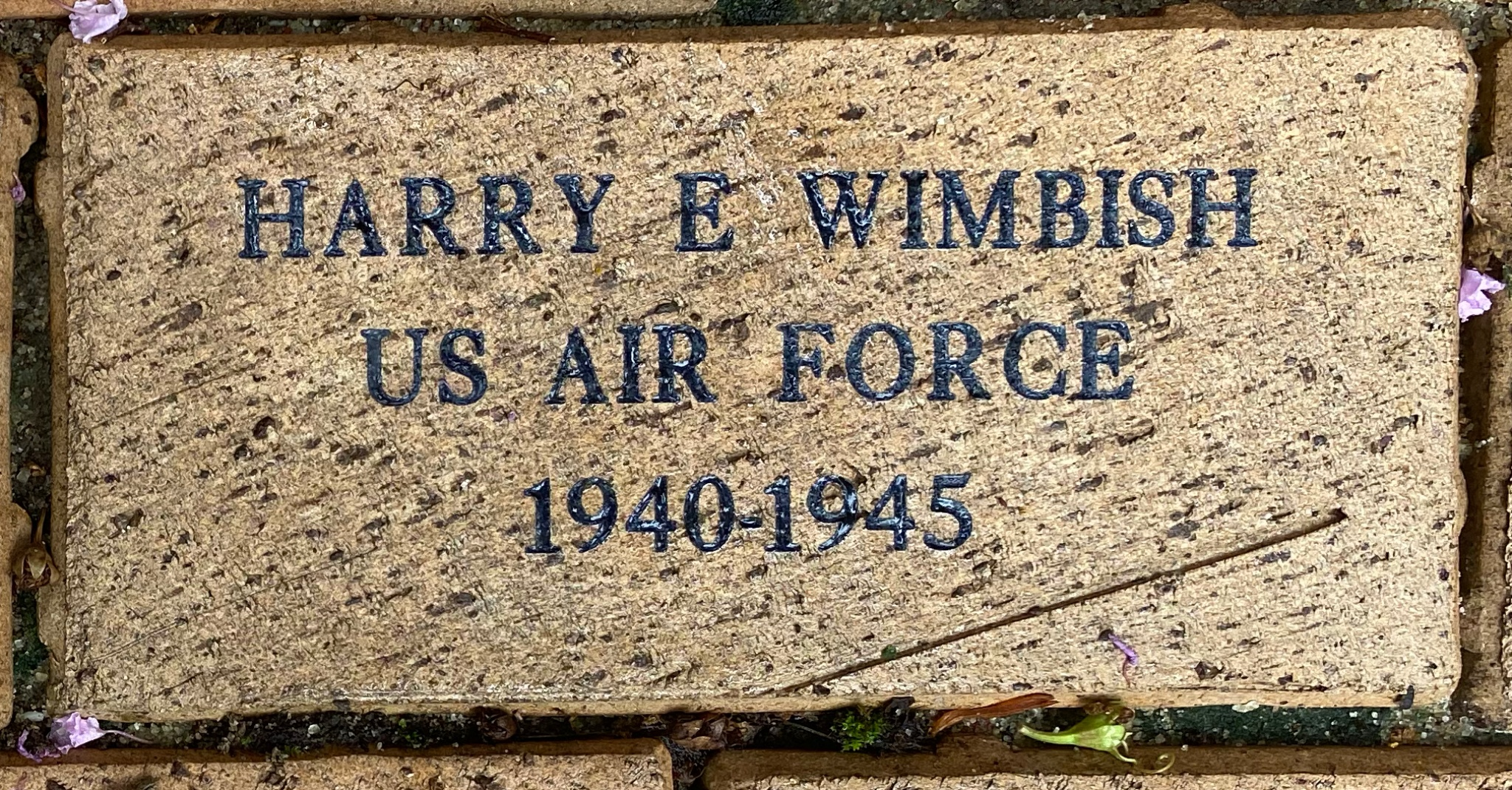 HARRY E WIMBISH US AIR FORCE 1940-1945