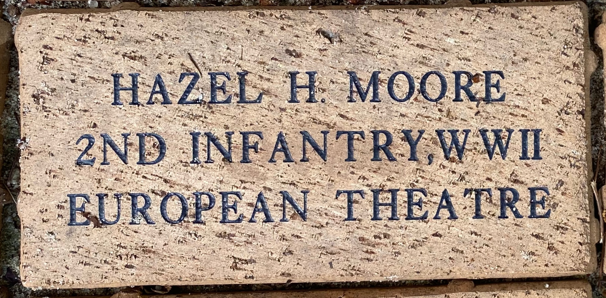 HAZEL H. MOORE 2ND INFANTRY,WWII EUROPEAN THEATRE