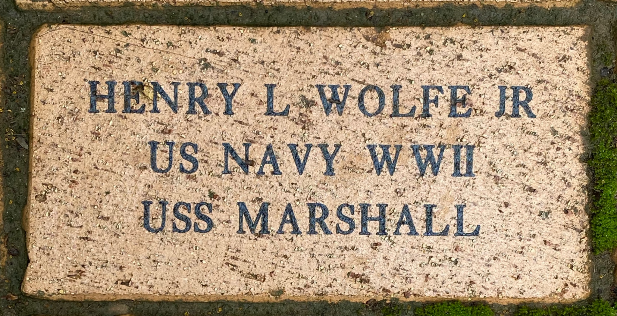 HENRY L WOLFE JR US NAVY WWII USS MARSHALL