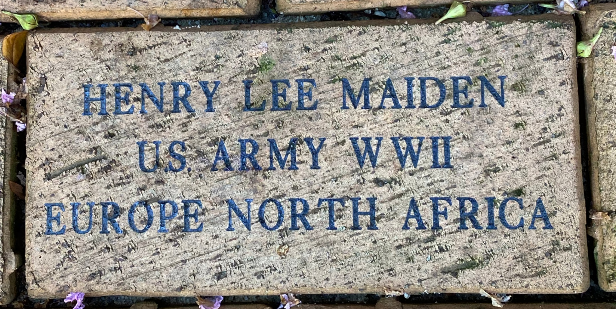 HENRY LEE MAIDEN US ARMY WWII EUROPE North Africa