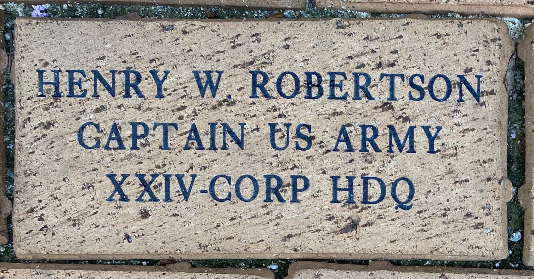 HENRY W. ROBERTSON CAPTAIN US ARMY XXIV CORPS HDQ
