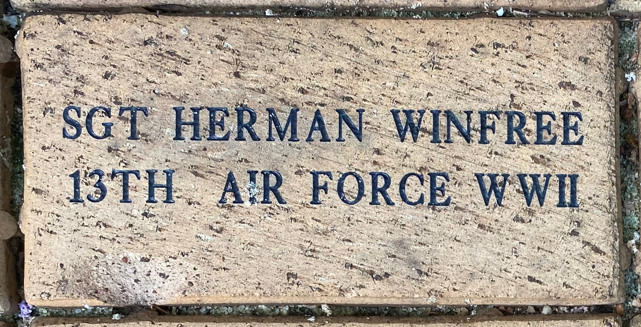 SGT. HERMAN WINFREE 13TH AIR FORCE WWII