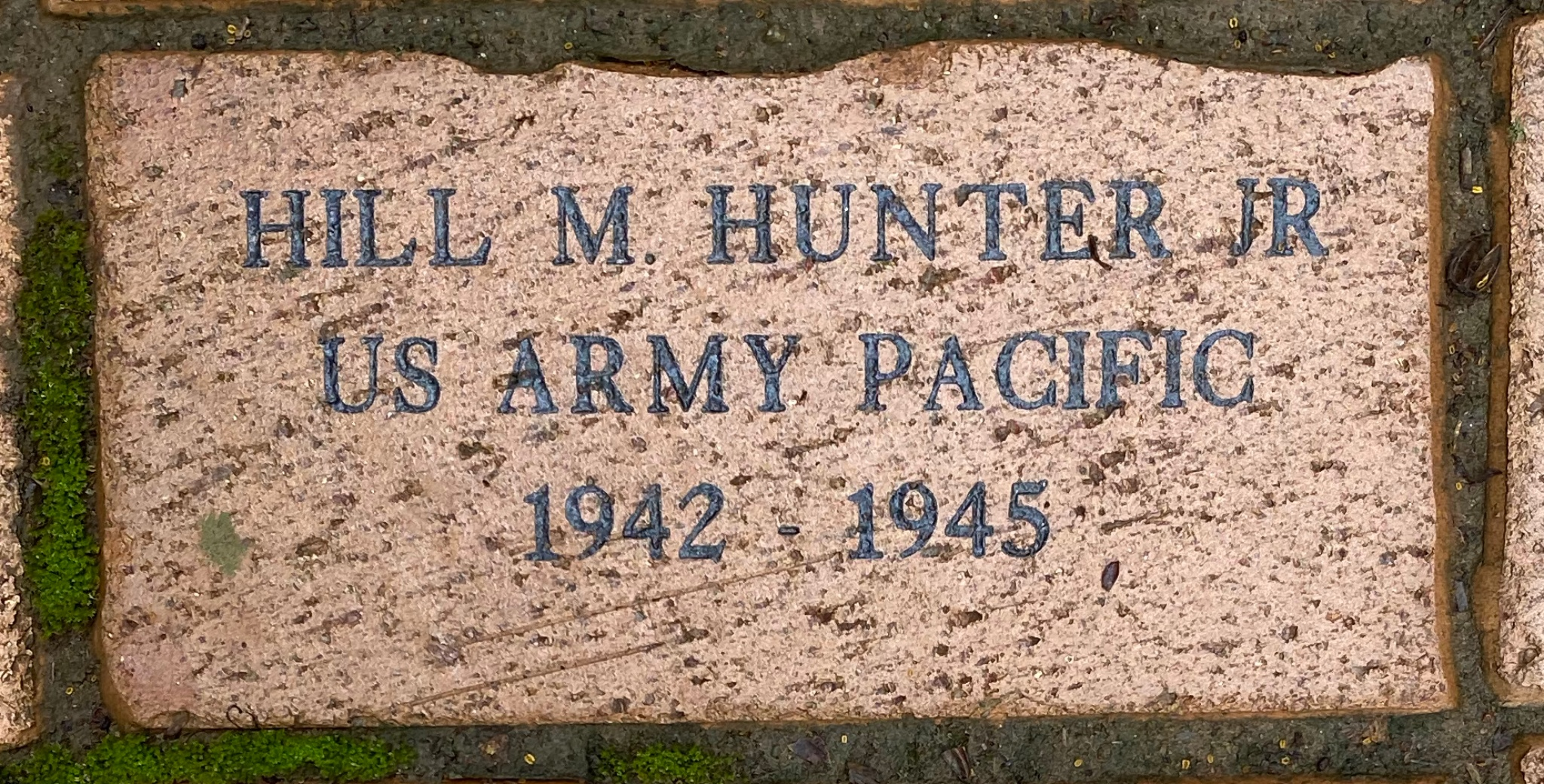 HILL M. HUNTER JR US ARMY PACIFIC 1942 – 1945