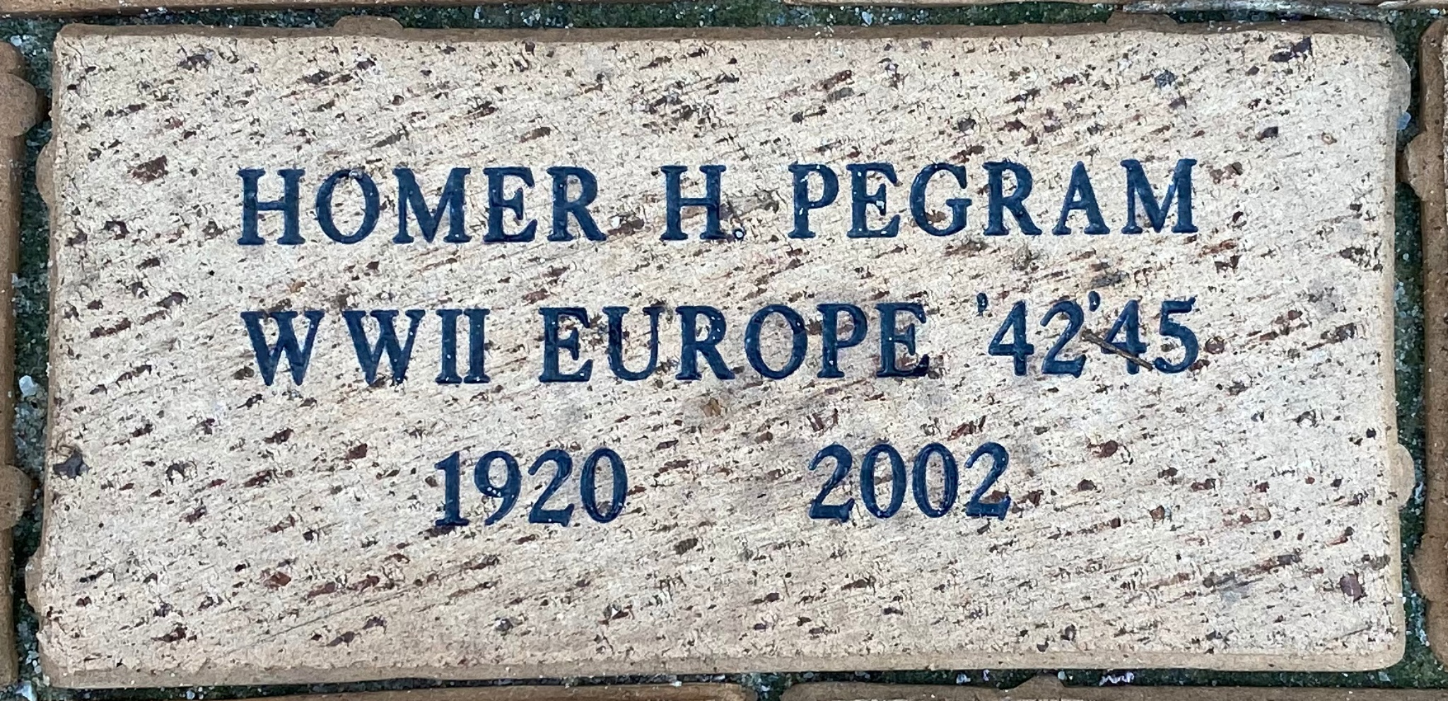 HOMER H. PEGRAM WWII EUROPE '42 '45 1920 2002