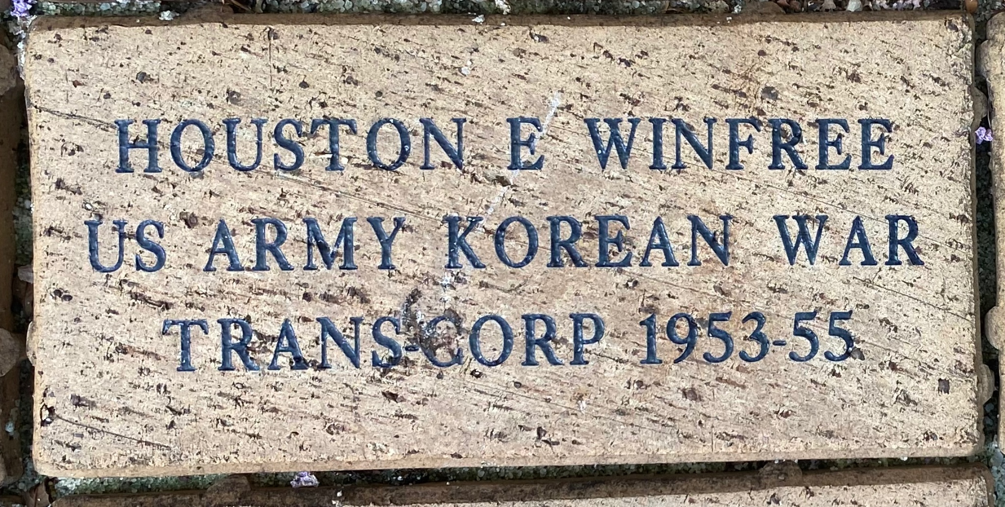 HOUSTON E WINFREE US ARMY KOREAN WAR TRANS-CORP 1953-1955