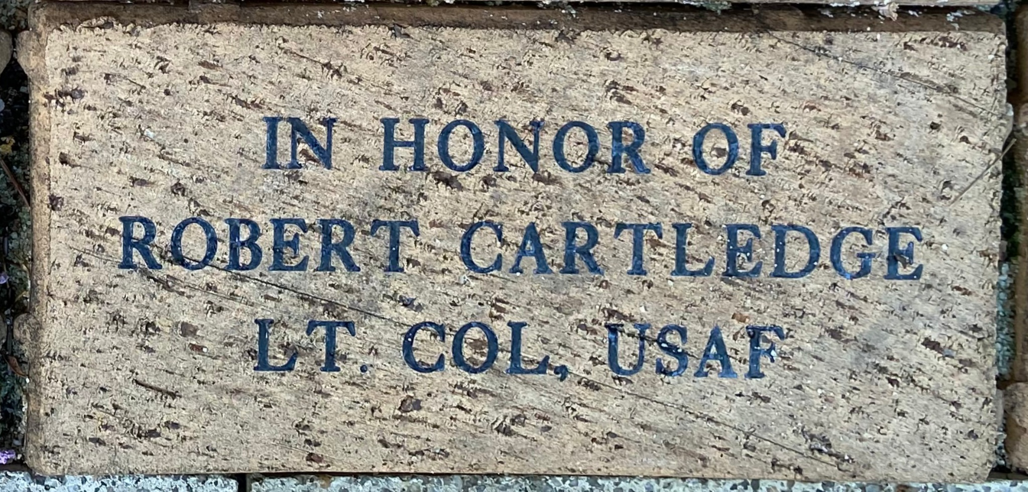 IN HONOR OF ROBERT CARTLEDGE LT. COL., USAF