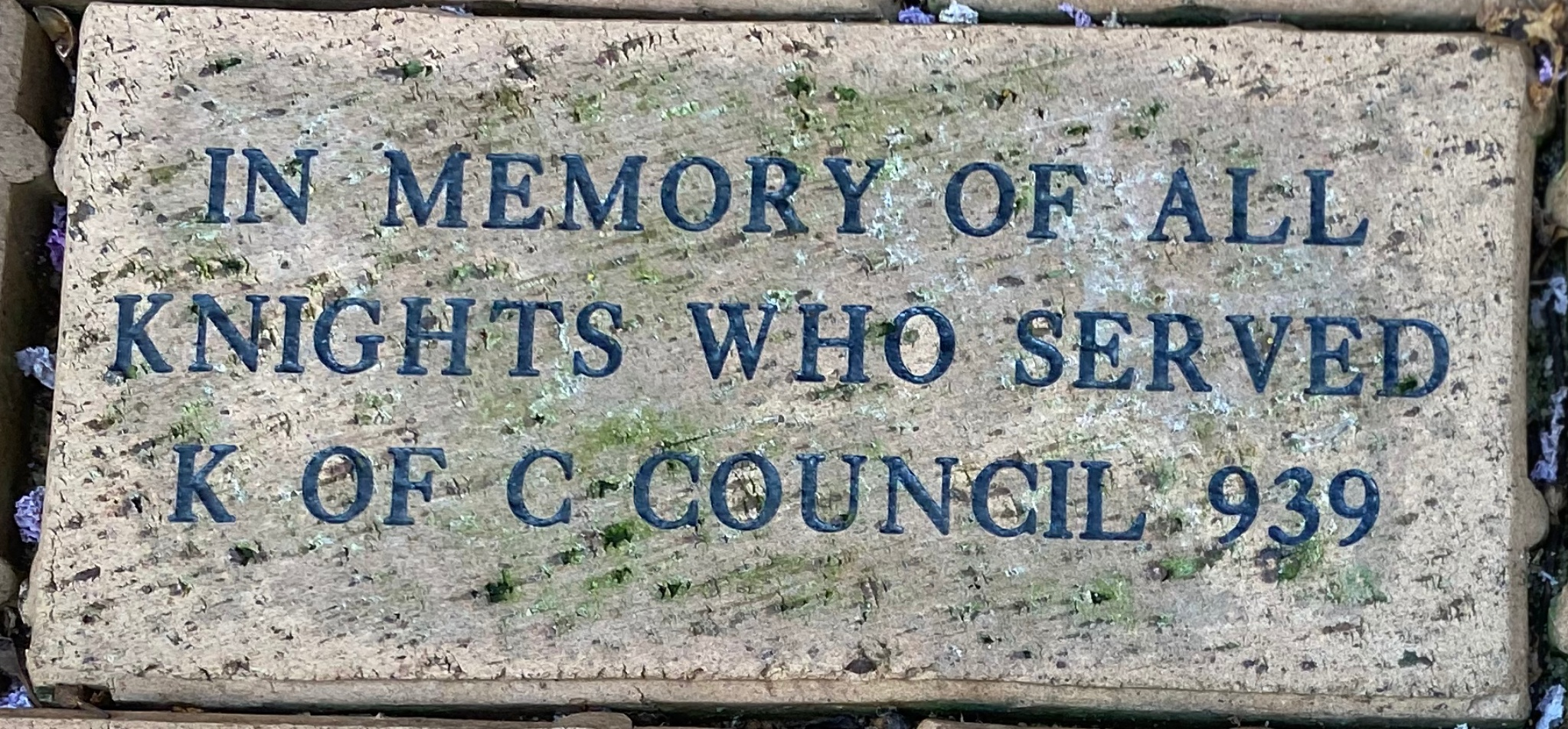 IN MEMORY OF ALL  KNIGHTS WHO SERVED  K OF C COUNCIL 939