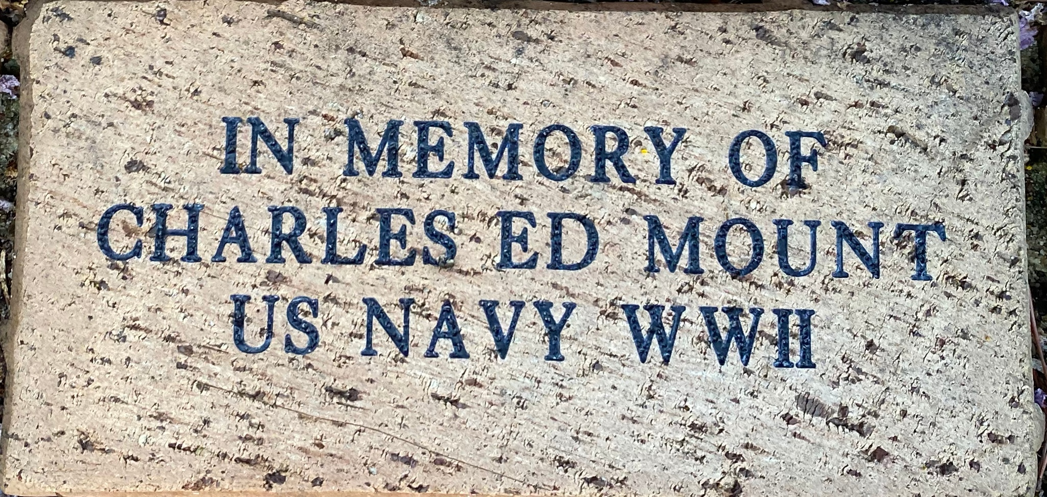 IN MEMORY OF  CHARLES ED MOUNT US NAVY WWII