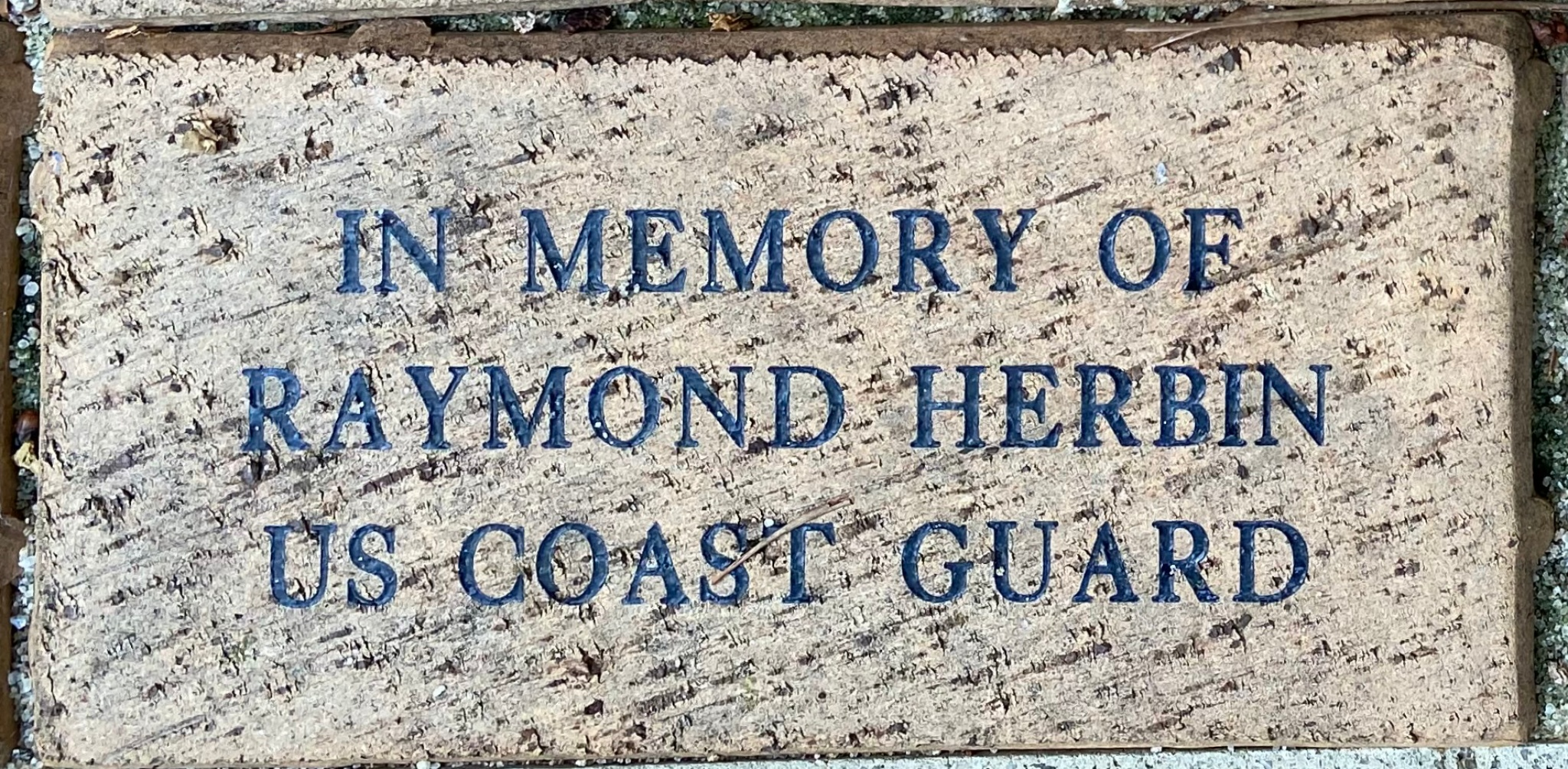 IN MEMORY OF RAYMOND HERBIN US COAST GUARD