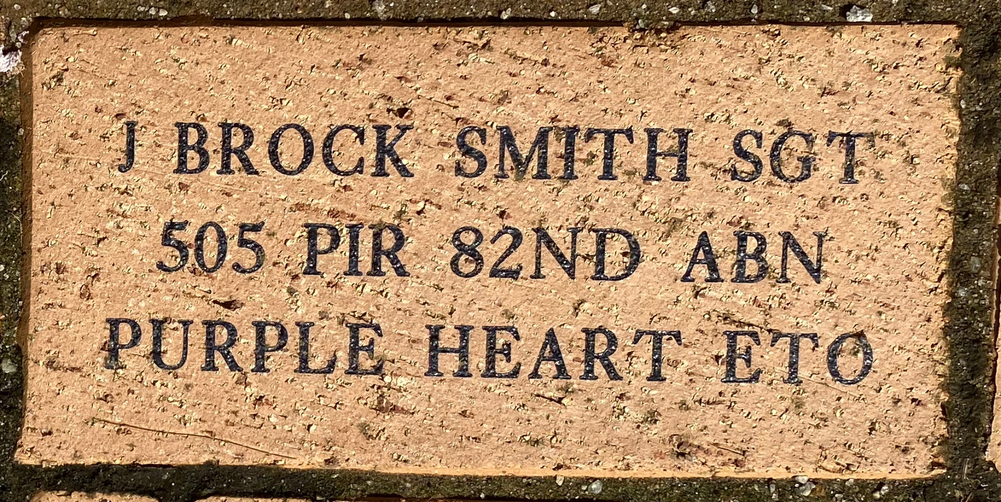 J BROCK SMITH SGT 505 PIR 82ND ABN PRUPLE HEART ETO