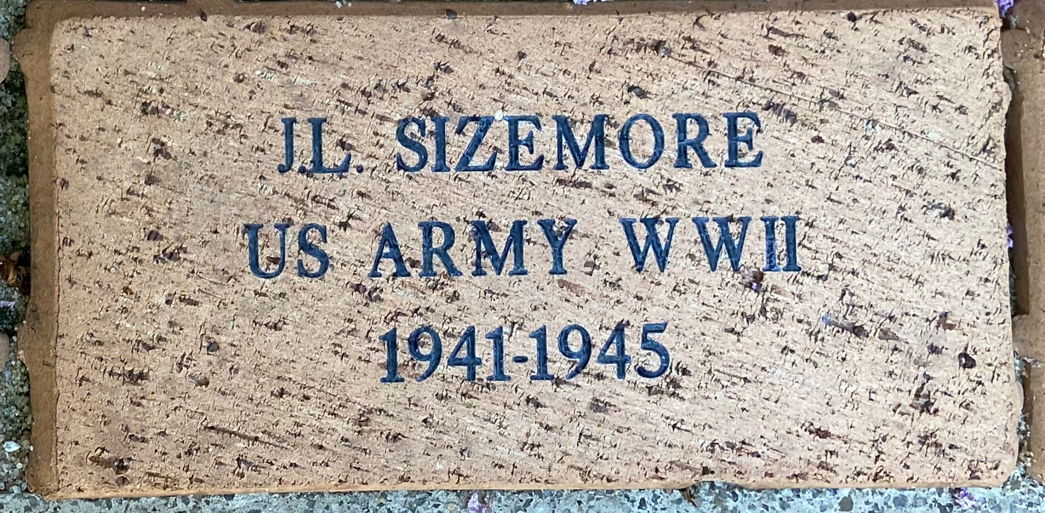 J.L. SIZEMORE US ARMY WWII 1941-1945