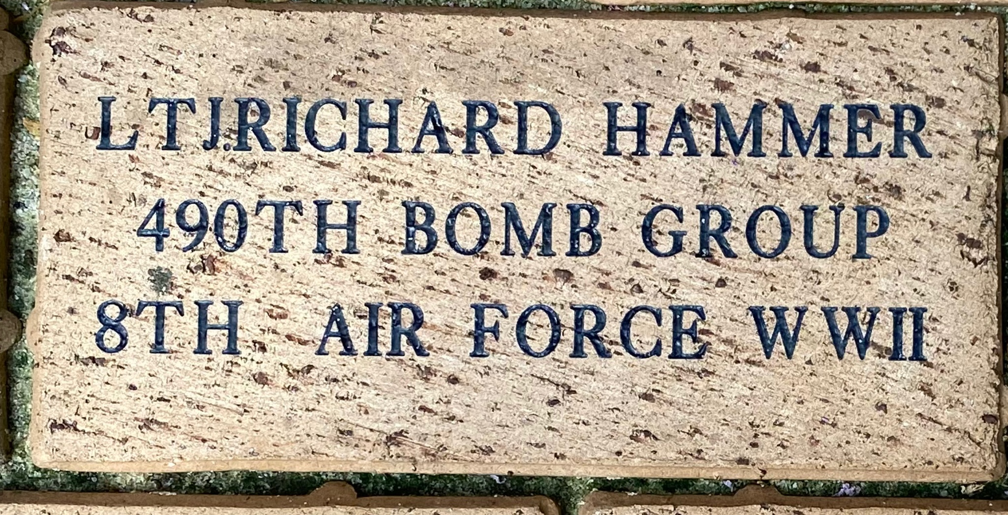 LT JRICHARD HAMMER 490TH BOMB GROUP 8TH AIR FORCE WWII