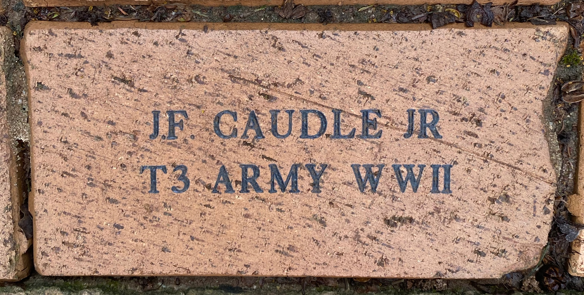 J.F. CAUDLE JR T3 ARMY WWII