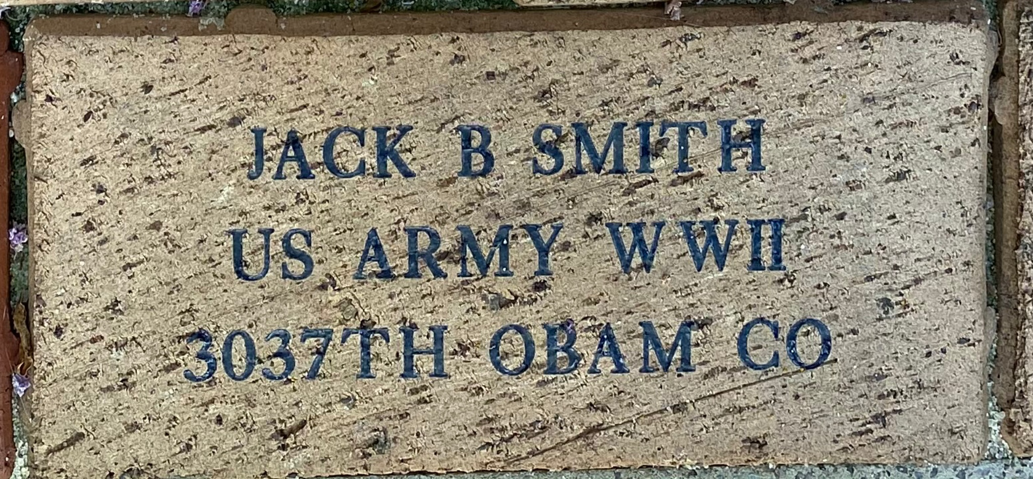 JACK B SMITH US ARMY WWII 3037TH OBAM CO
