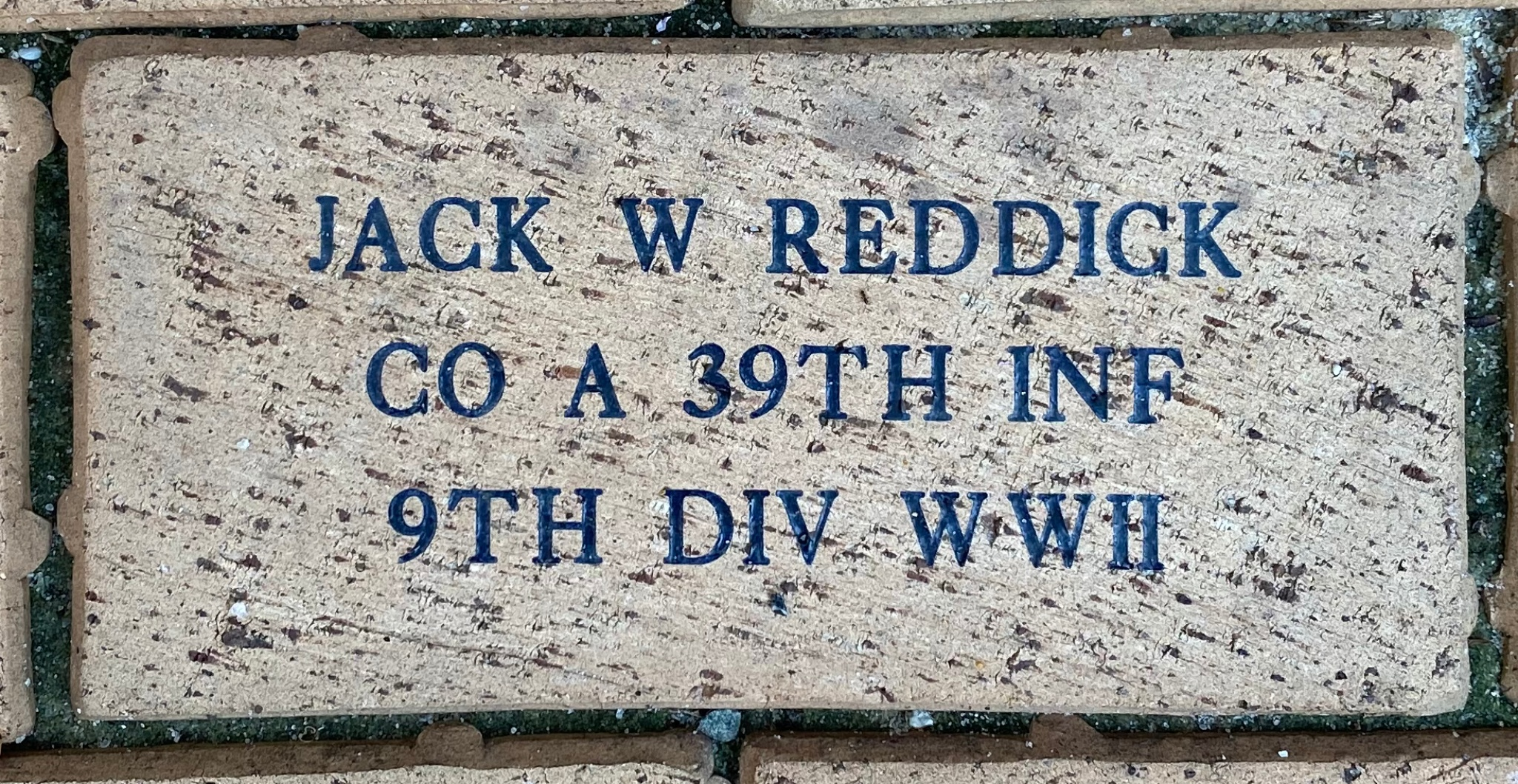 JACK W REDDICK CO A 39TH INF 9TH DIV WWII