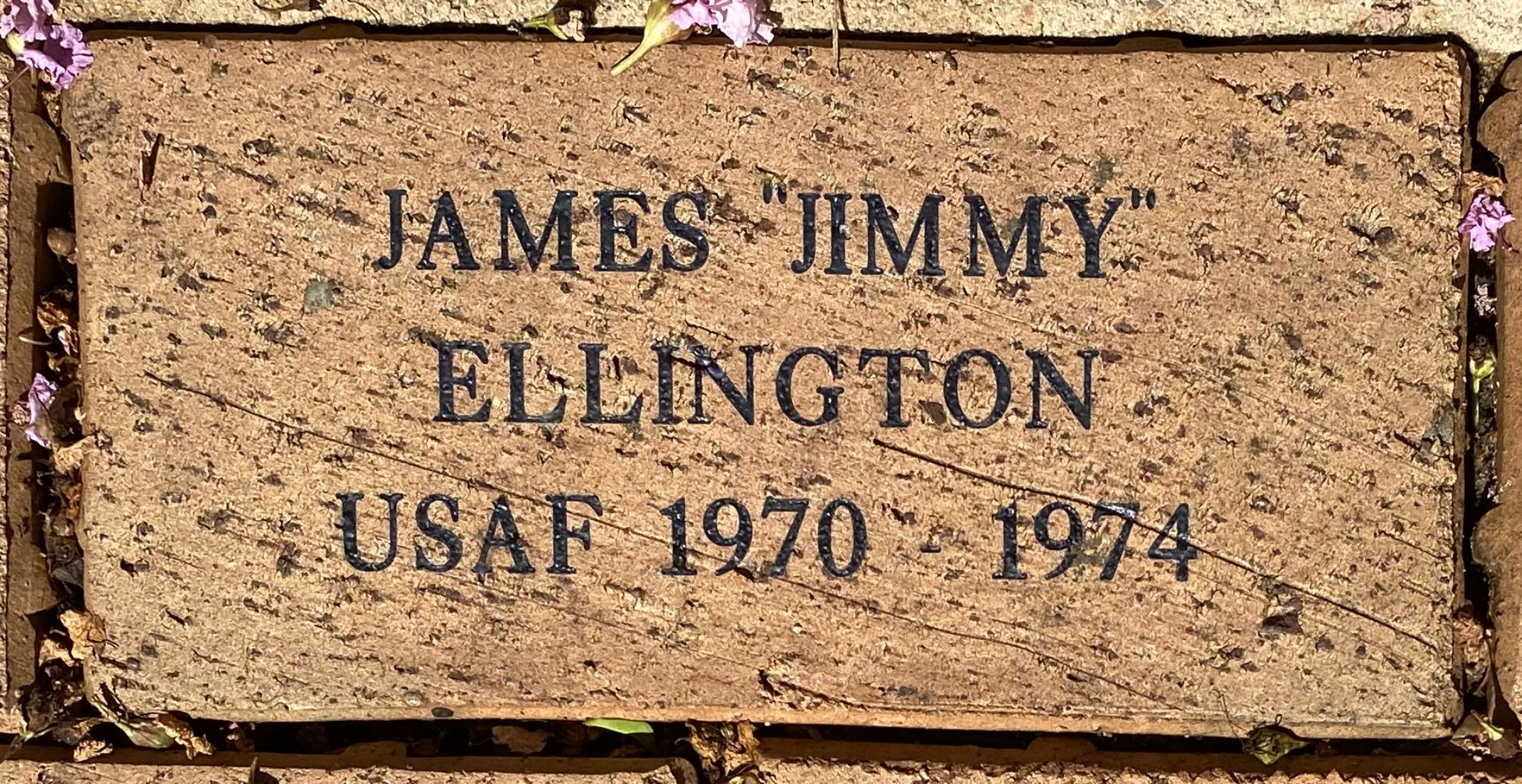 "JAMES ""JIMMY"" ELLINGTON USAF 1970 – 1974"