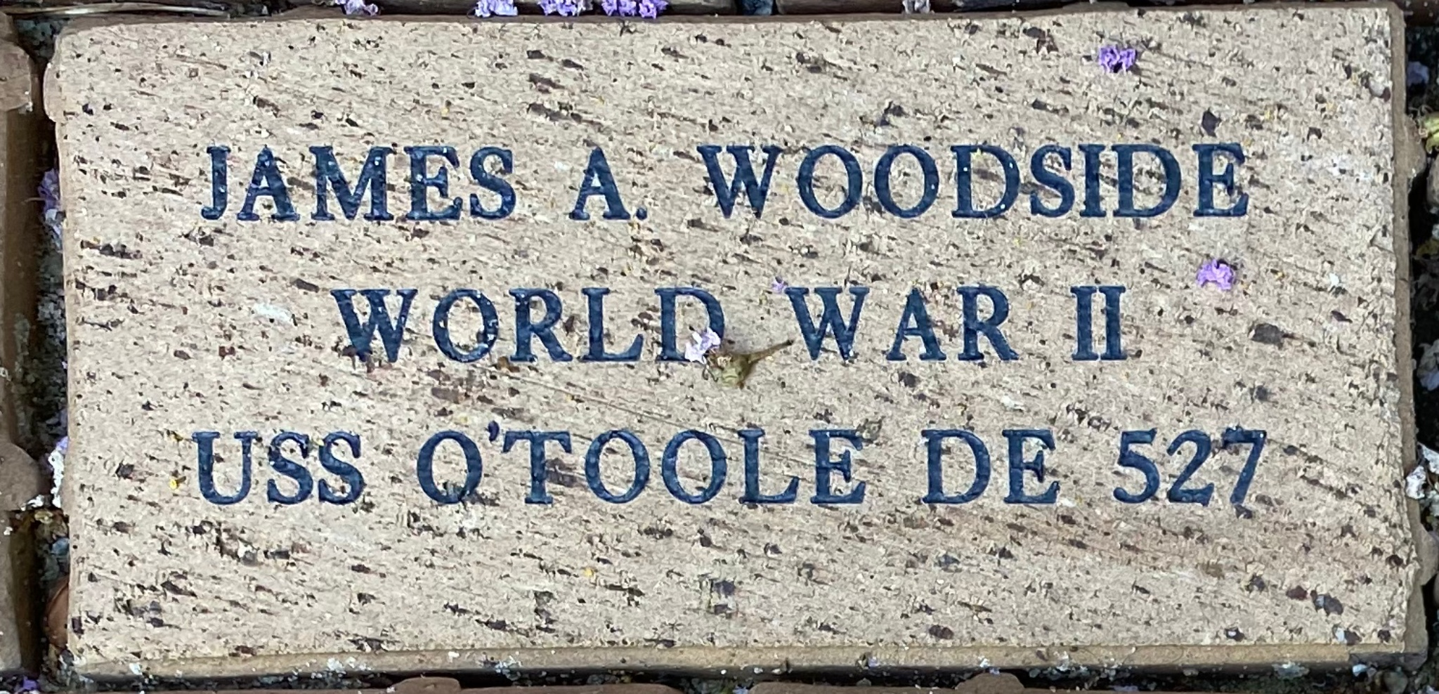 JAMES A. WOODSIDE WORLD WAR II USS O''TOOLE DE 527