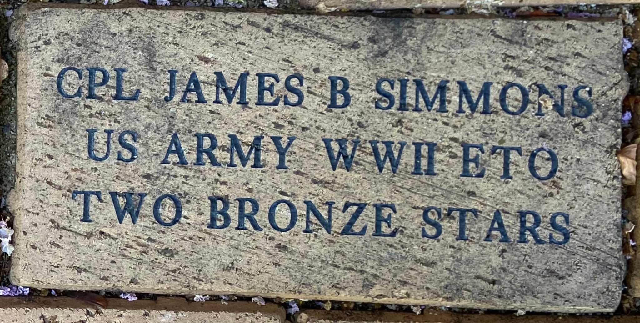 CPL JAMES B. SIMMONS US ARMY WWII ETO TWO BRONZE STARS