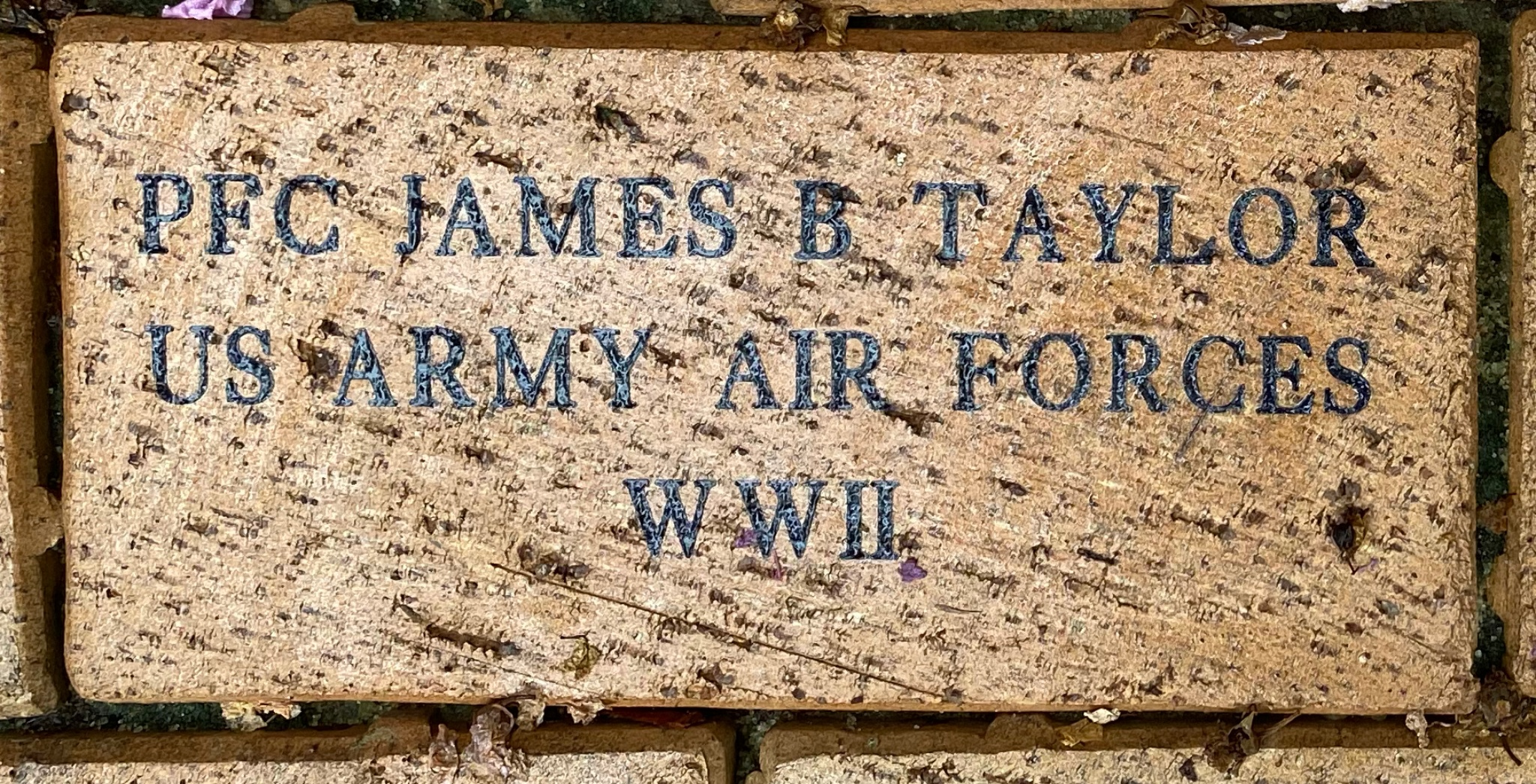 PFC JAMES B TAYLOR US ARMY AIR FORCES WWII