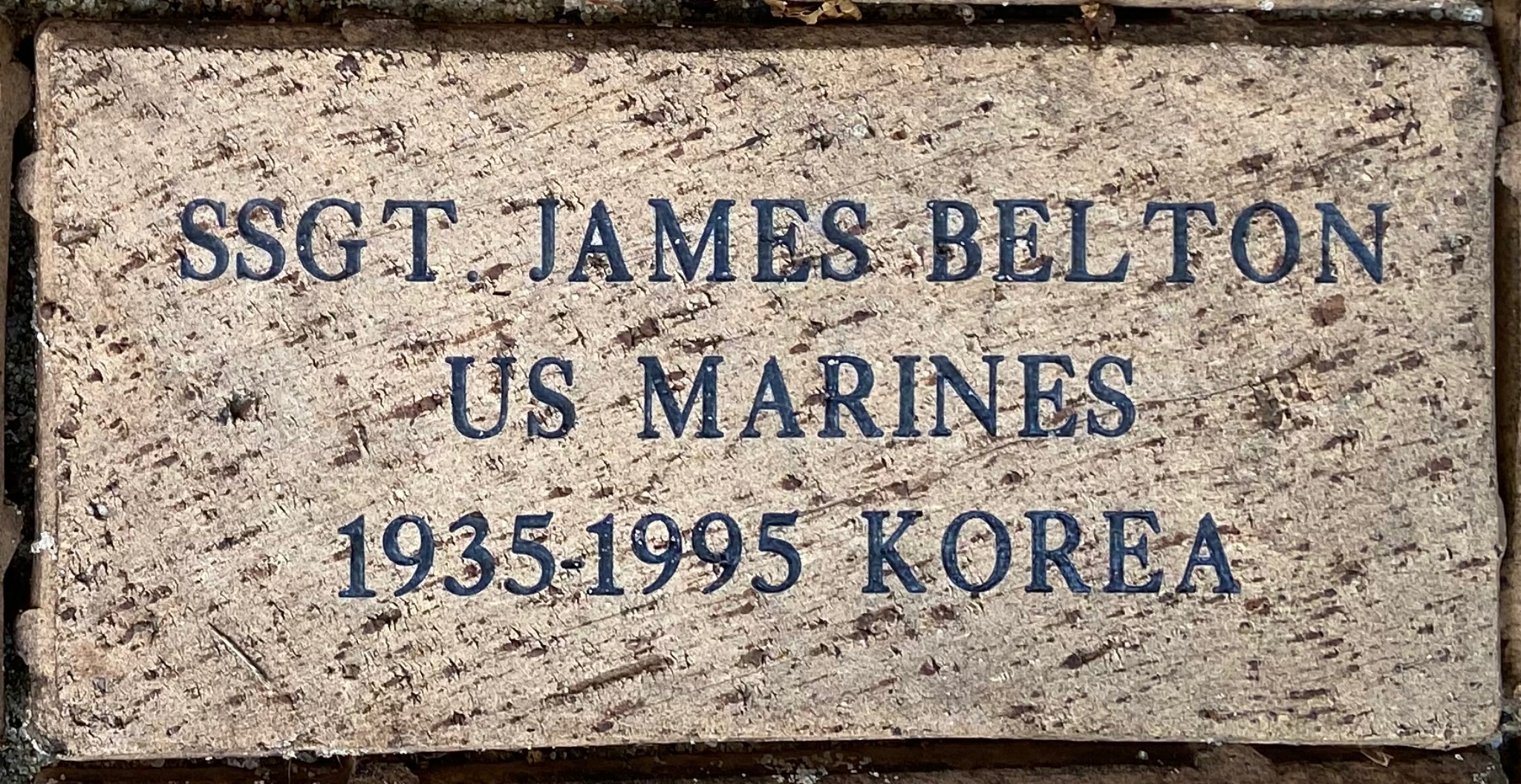 SSGT. JAMES BELTON US MARINES 1935-1995 – KOREA
