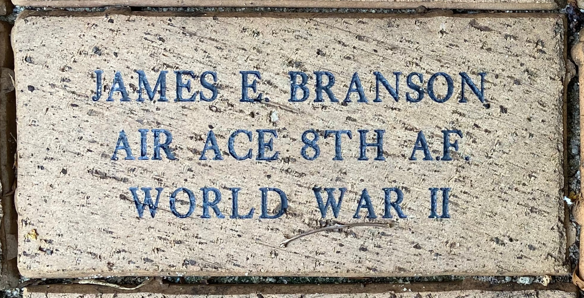 JAMES E. BRANSON AIR ACE 8TH A.F. WORLD WAR II