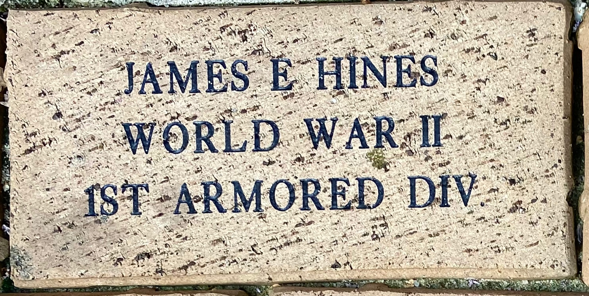 JAMES E HINES WORLD WAR II 1ST ARMORED DIV