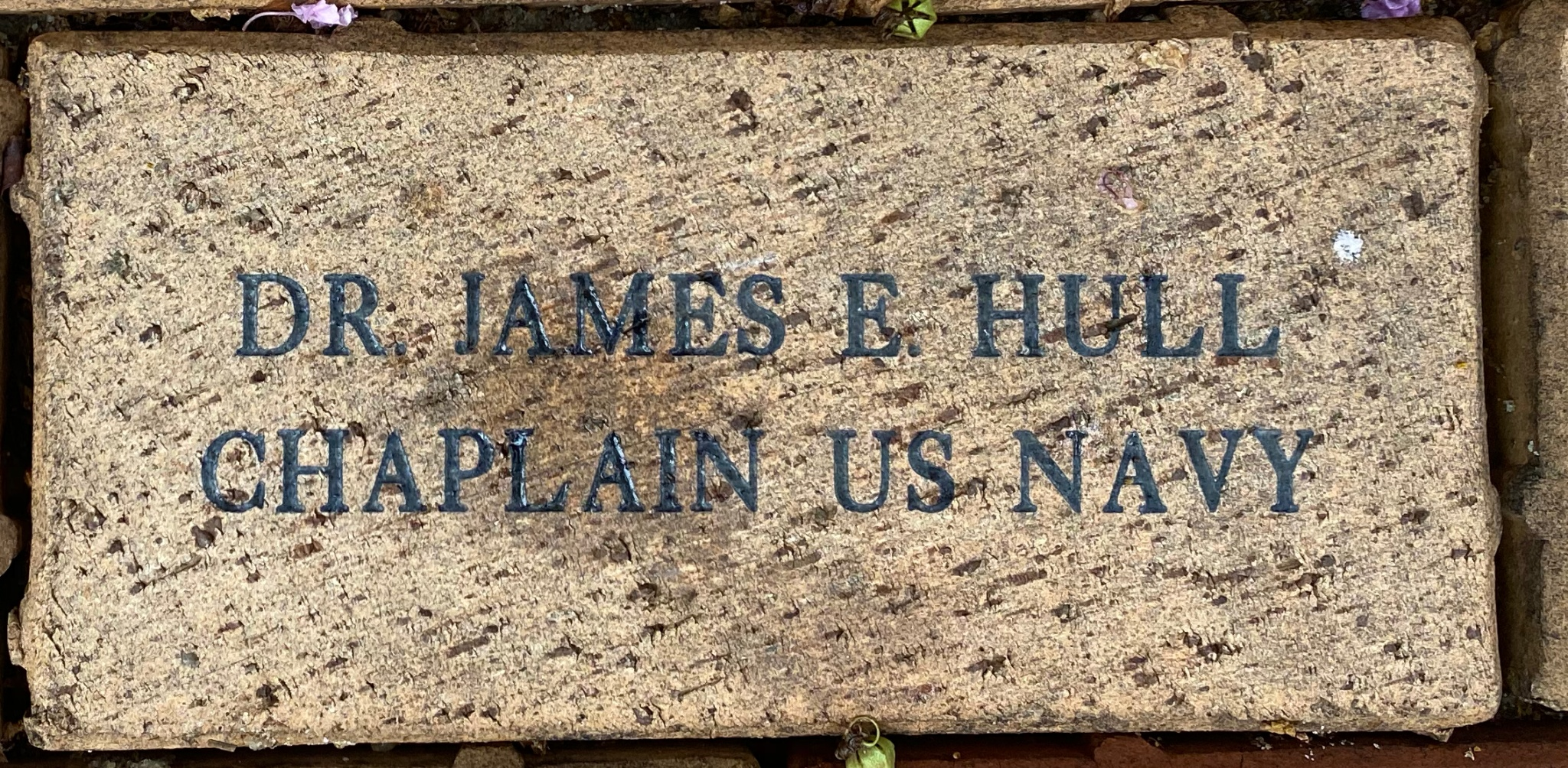 DR. JAMES E. HULL CHAPLAIN US NAVY