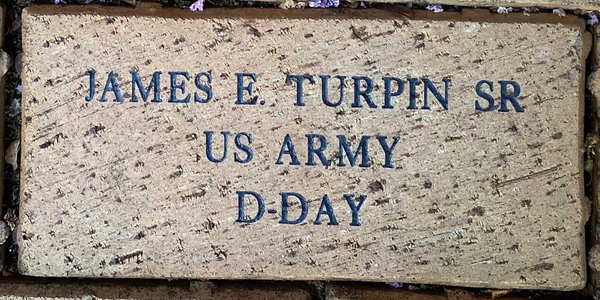 JAMES E. TURPIN SR US ARMY D-DAY