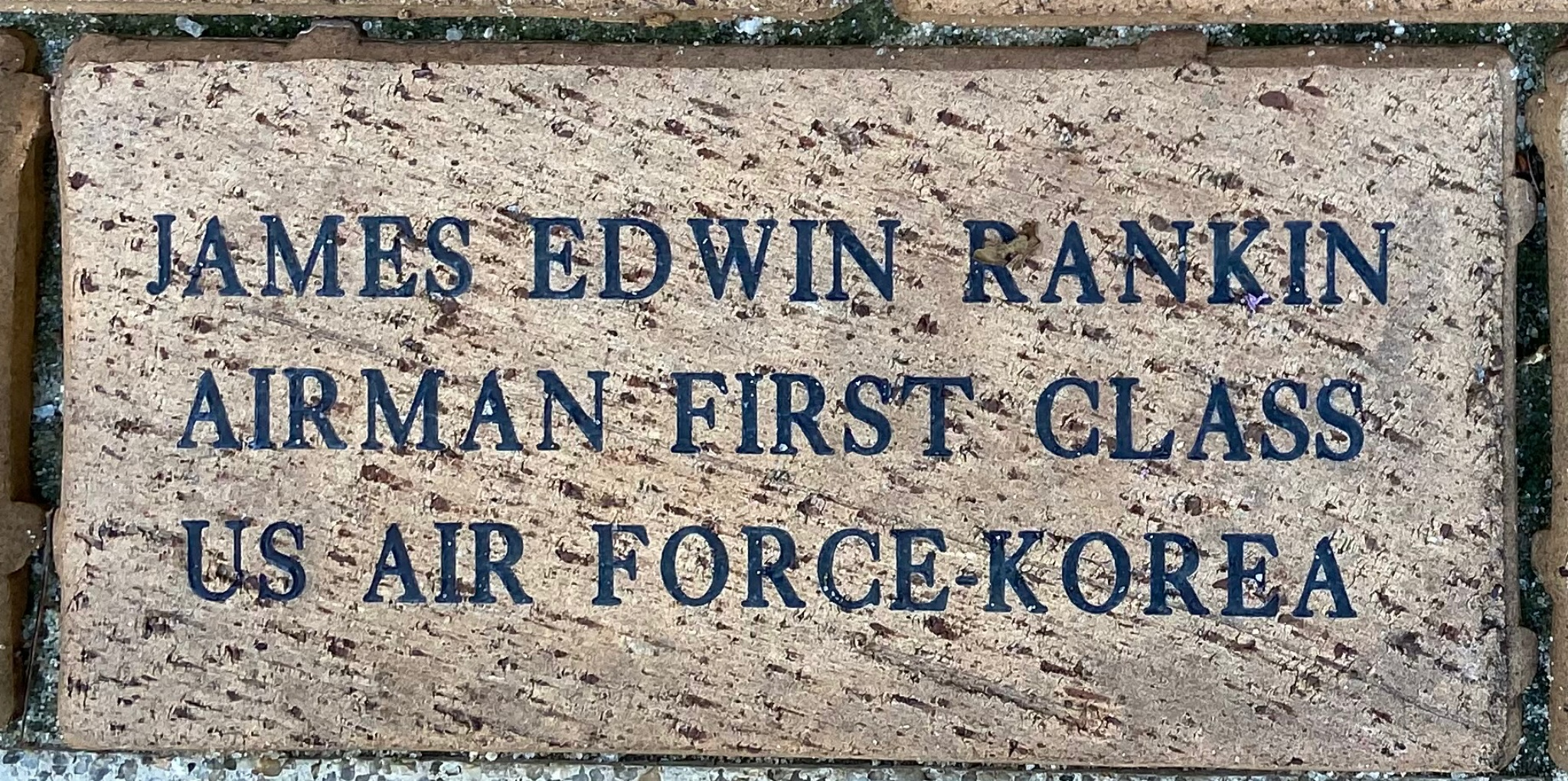 JAMES EDWIN RANKIN AIRMAN FIRST CLASS US AIR FORCE-KOREA
