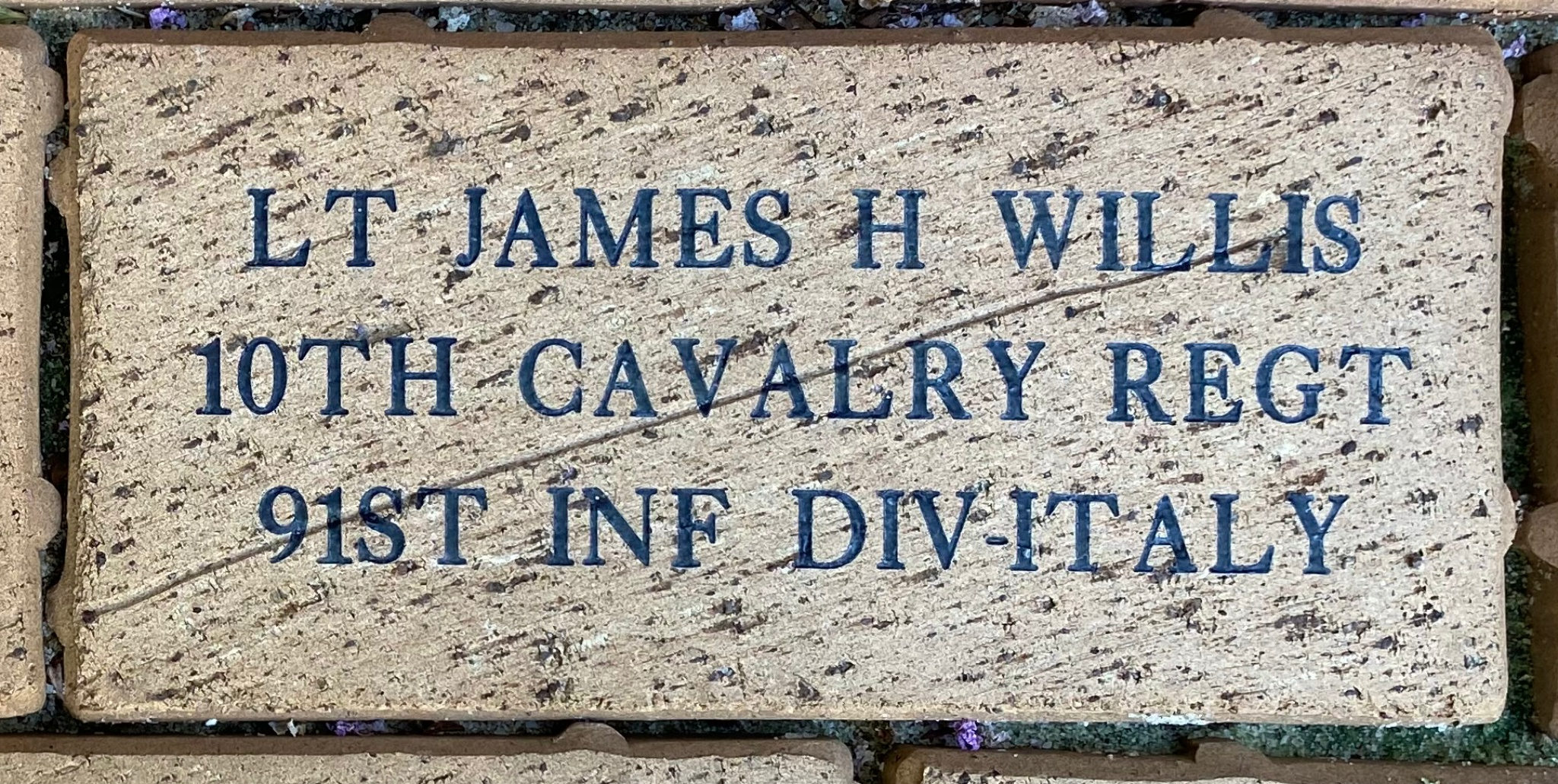 LT JAMES H WILLIS 10TH CAVALRY REGT 91ST INF DIV-ITALY