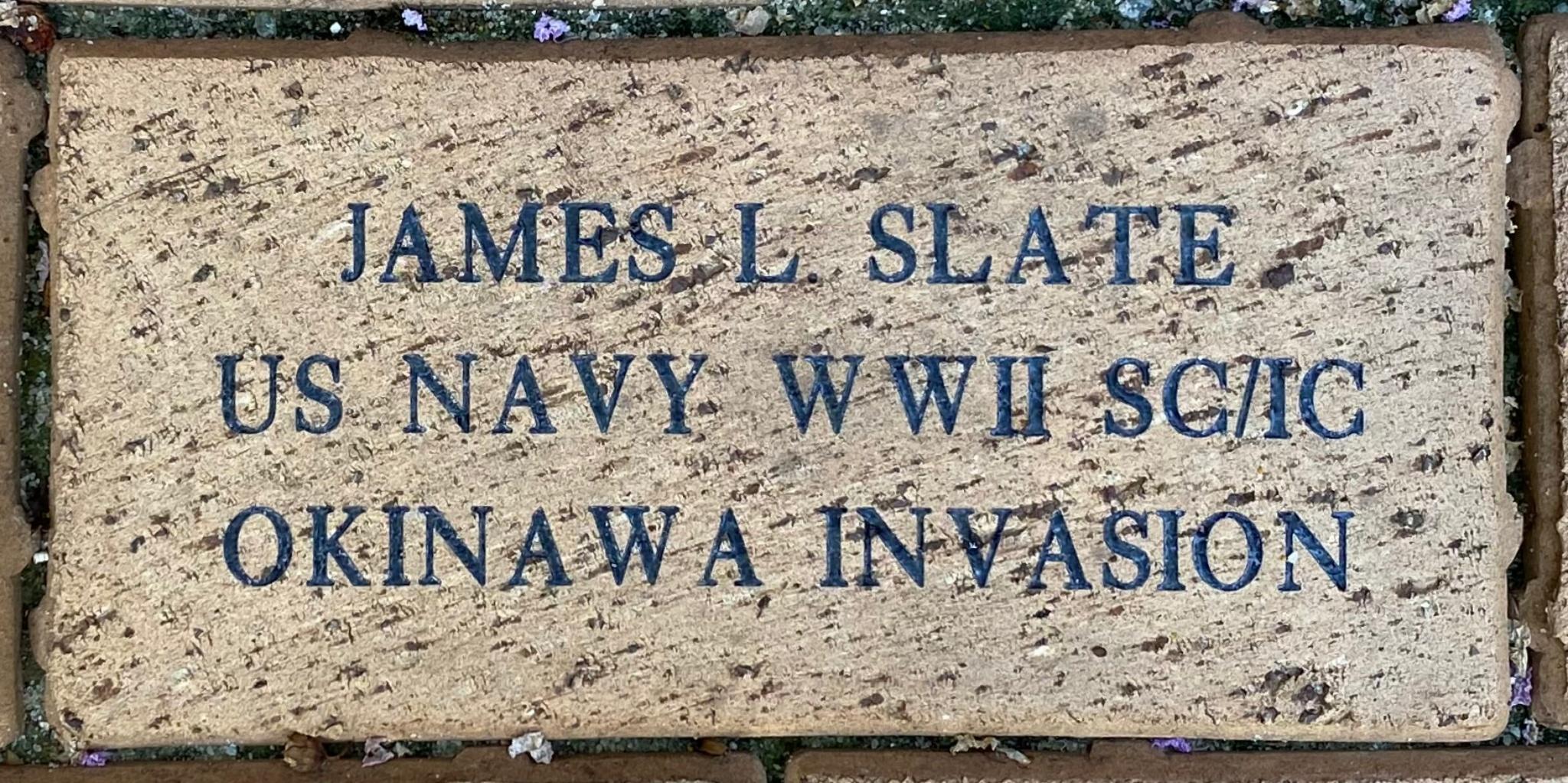 JAMES L. SLATE US NAVY WWII SC/IC OKINAWA INVASION