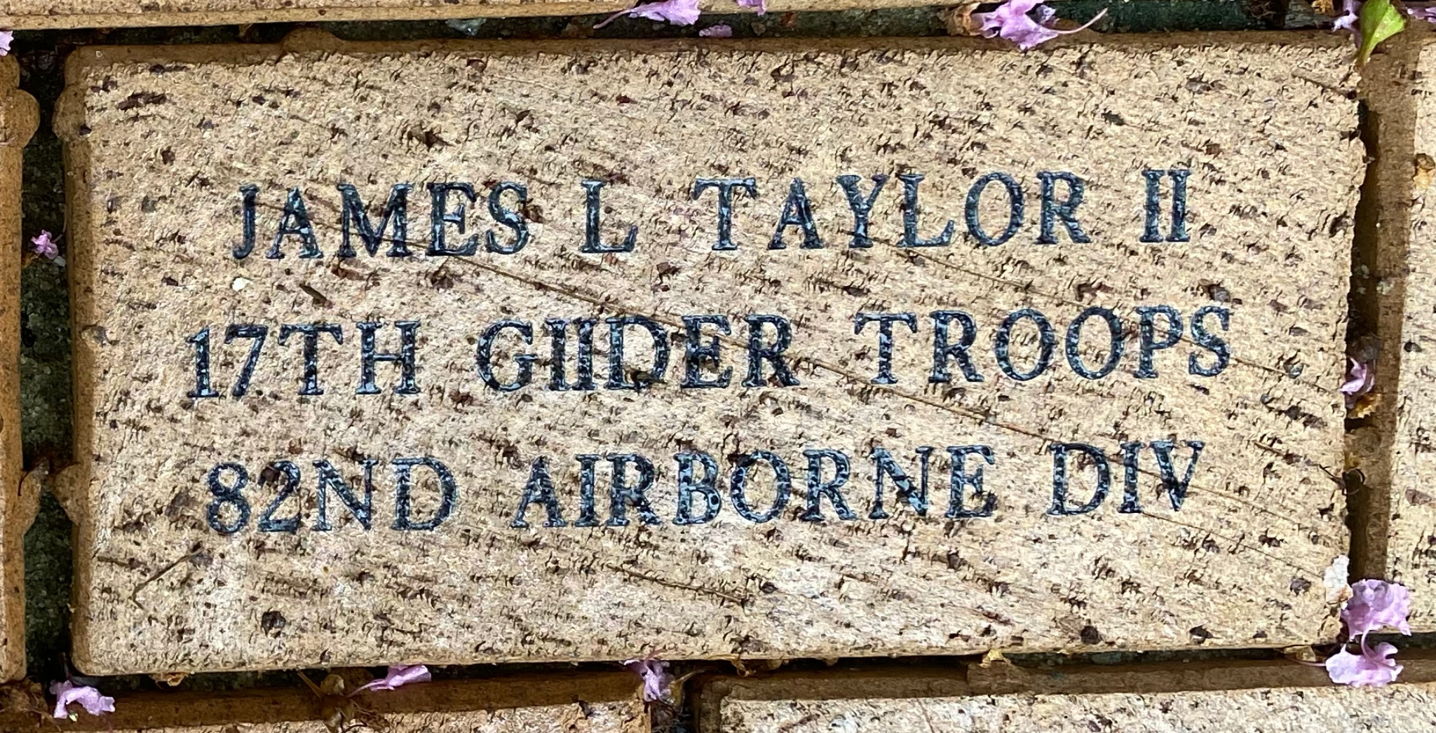 JAMES L TAYLOR II 17 GLIDER TROOPS 82ND AIRBORNE DIV