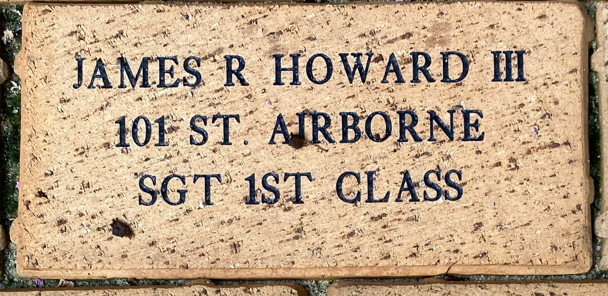 JAMES R. HOWARD III 101 ST. AIRBORNE SGT 1ST CLASS