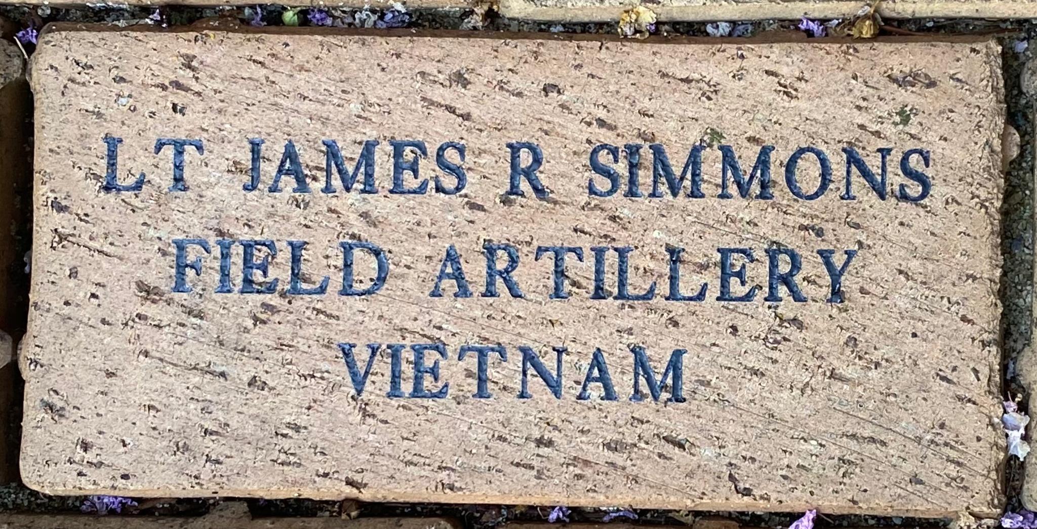 LT JAMES R SIMMONS FIELD ARTILLERY VIETNAM