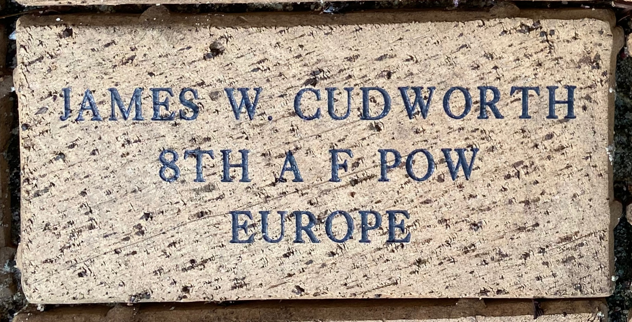 JAMES W. CUDWORTH 8TH A F POW  EUROPE