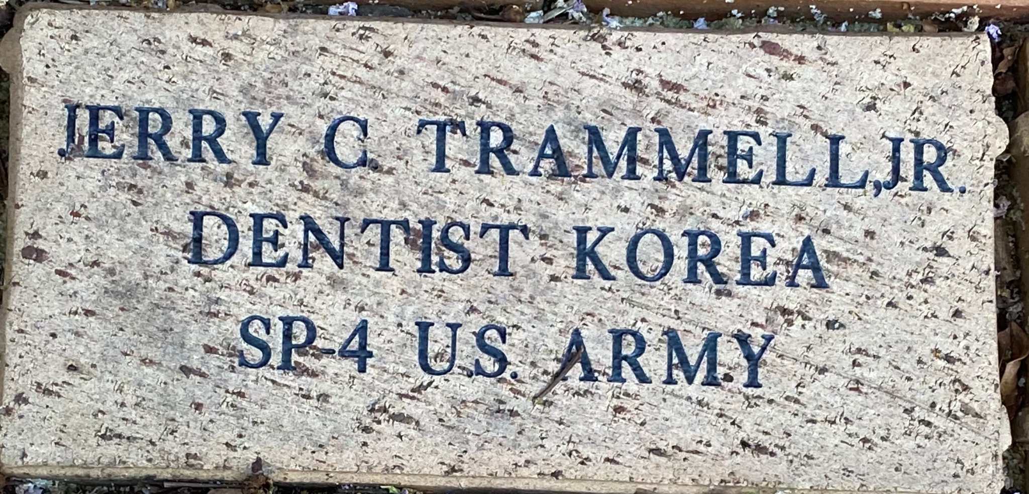 JERRY C. TRAMMELL,JR DENTIST KOREA SP-4 U.S. ARMY