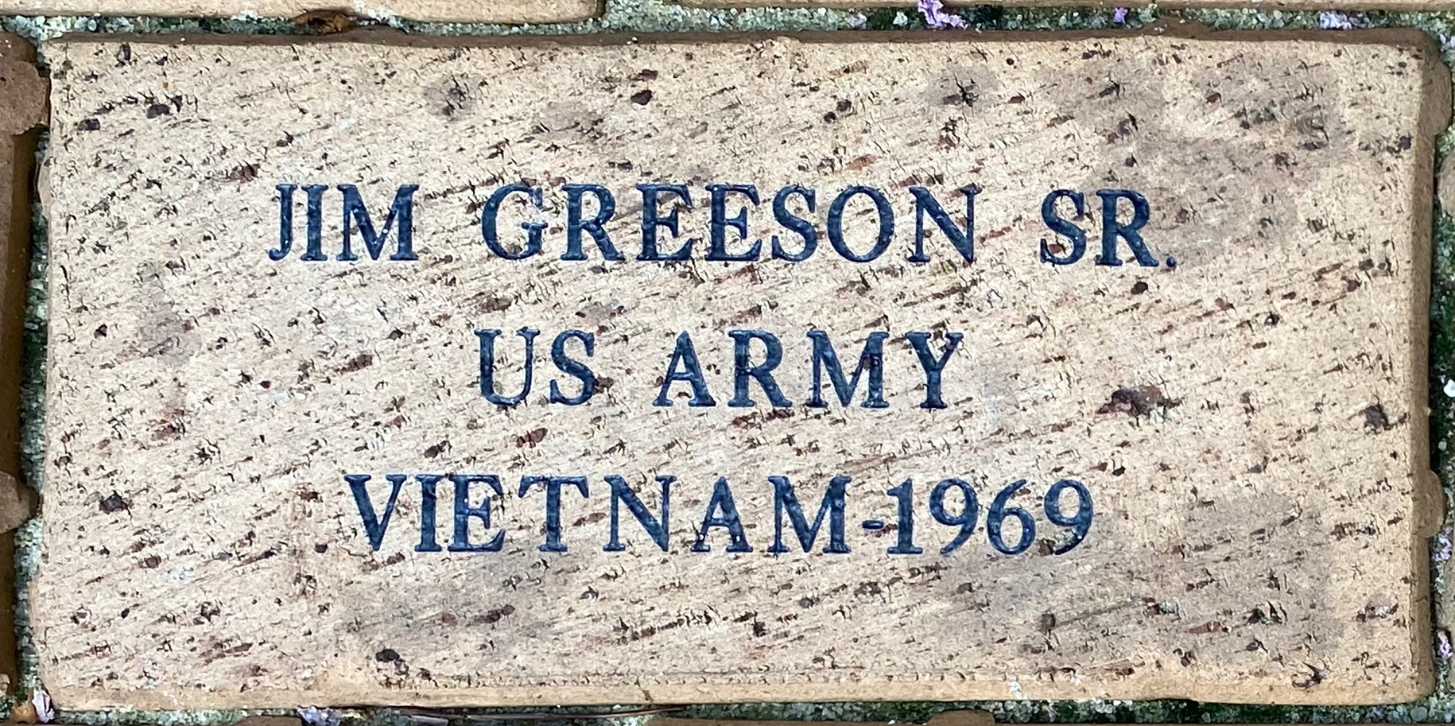 JIM GREESON SR US ARMY VIETNAM – 1969