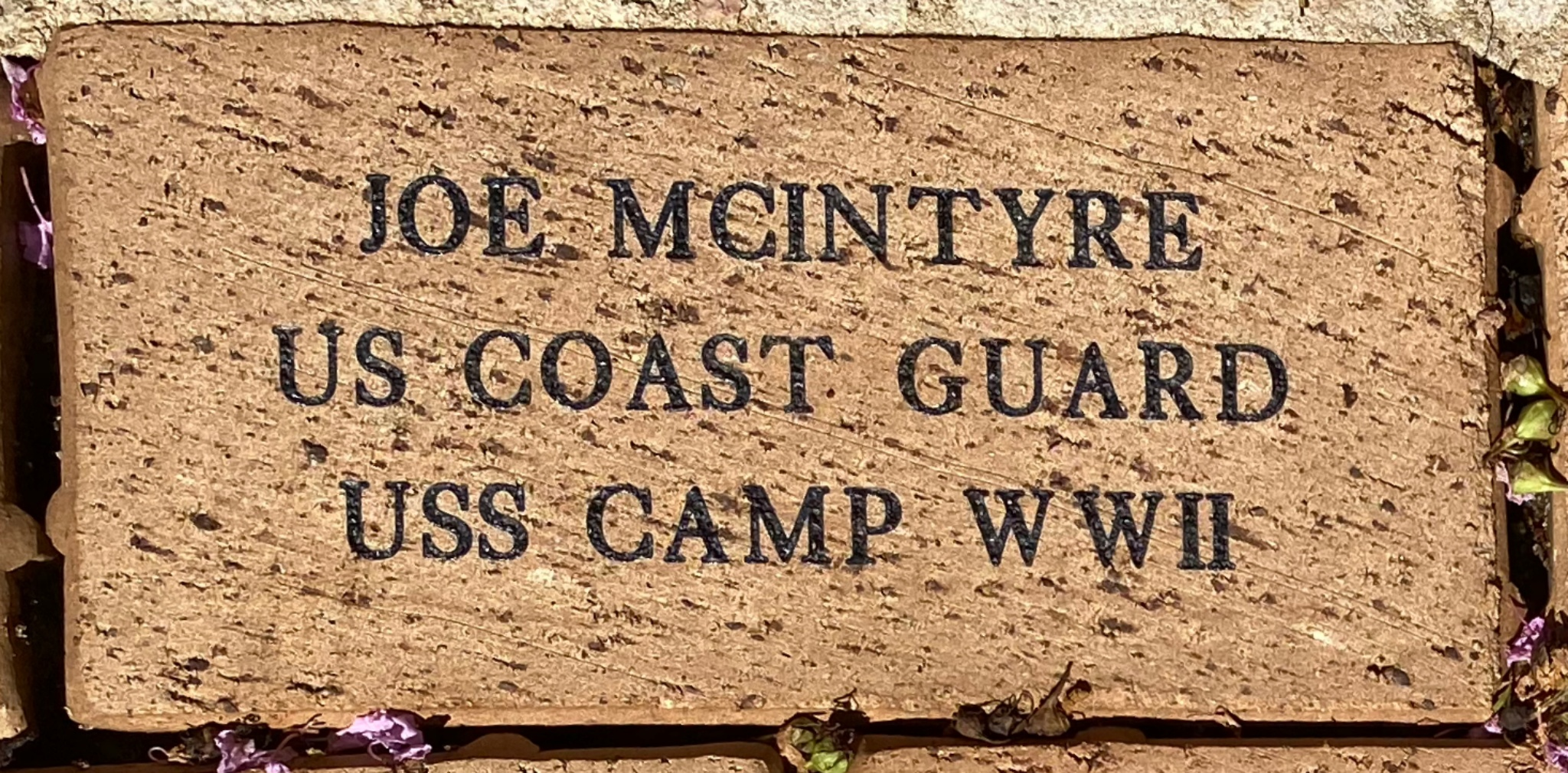 JOE MCINTYRE US COAST GUARD USS CAMP WWII