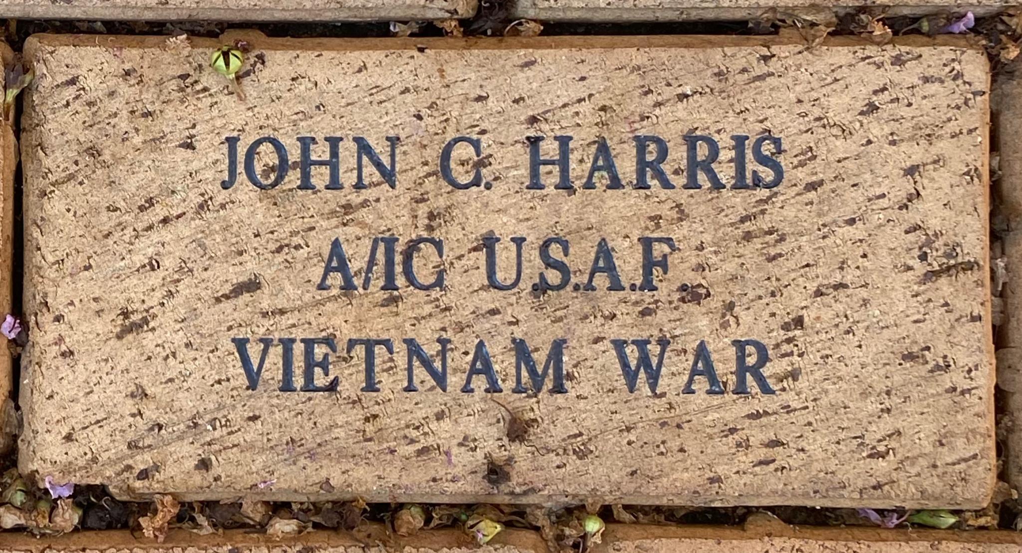 JOHN C. HARRIS A/IC U.S.A.F. VIETNAM WAR