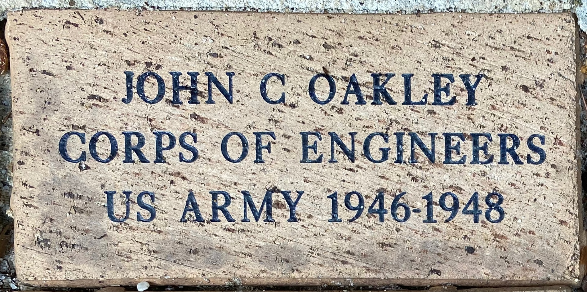 JOHN C OAKLEY CORPS OF ENGINEERS US ARMY 1946-1948