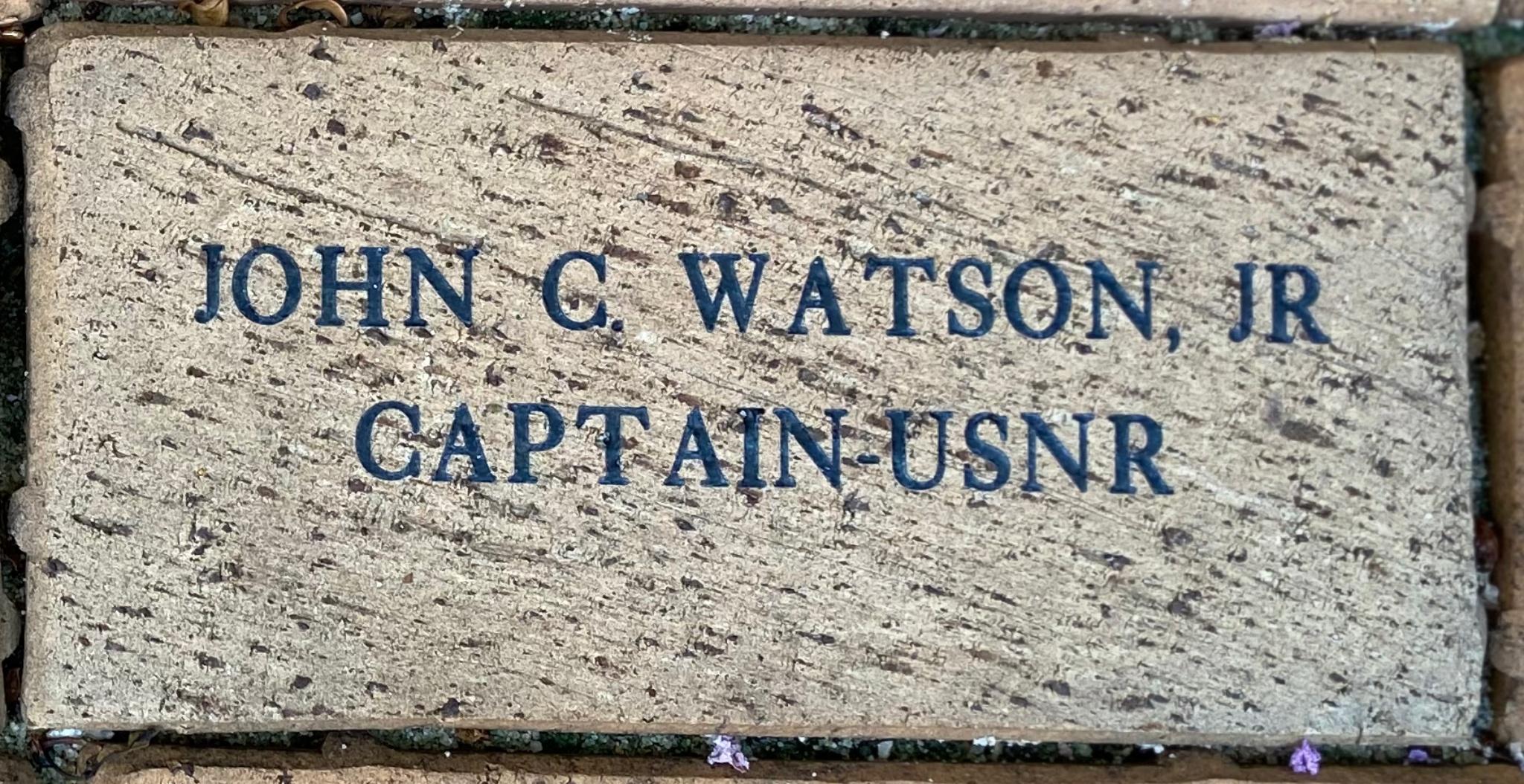 JOHN C. WATSON, JR CAPTAIN USNR