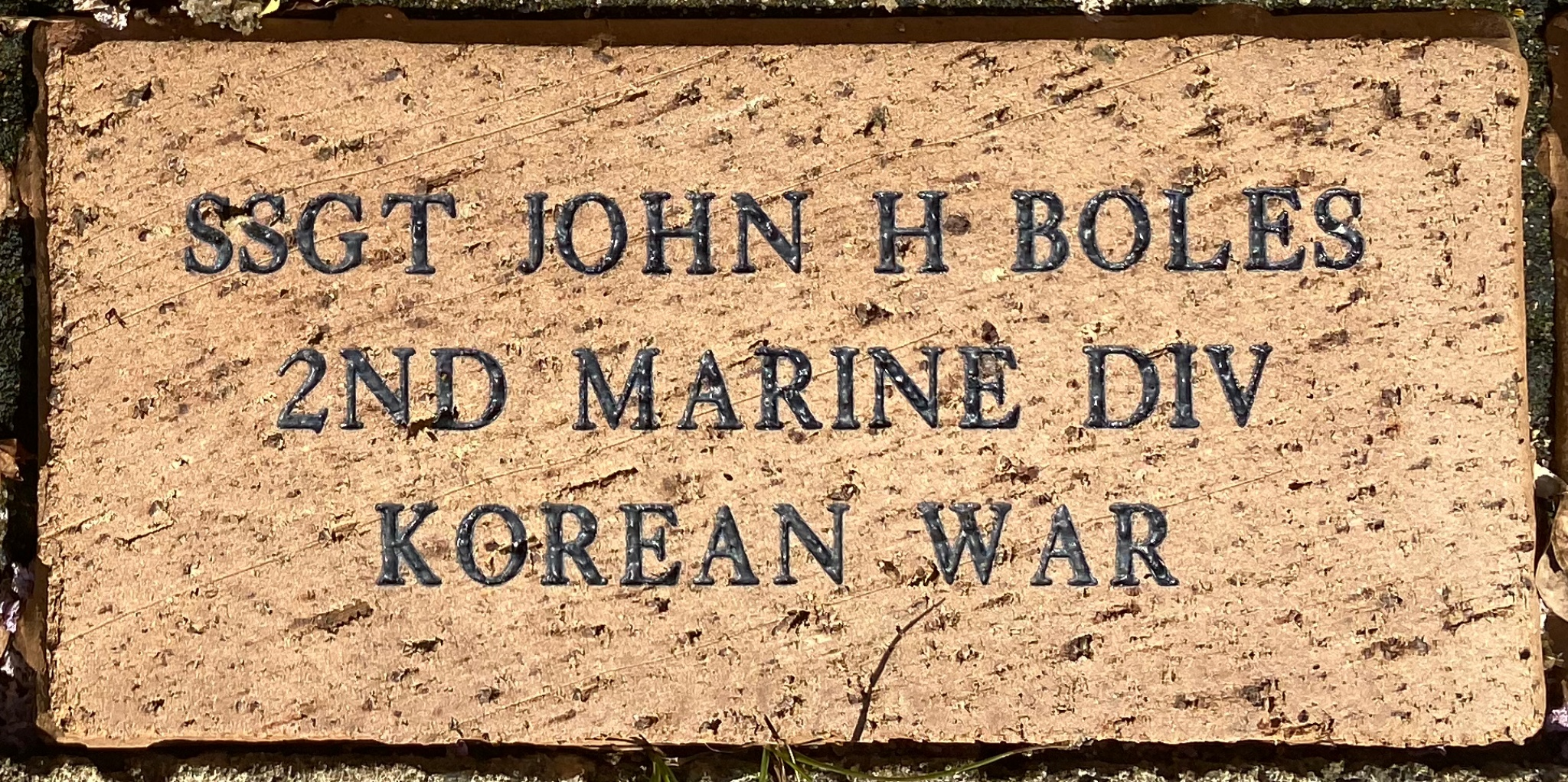 SSGT JOHN H BOLES 2ND MARINE DIV KOREAN WAR