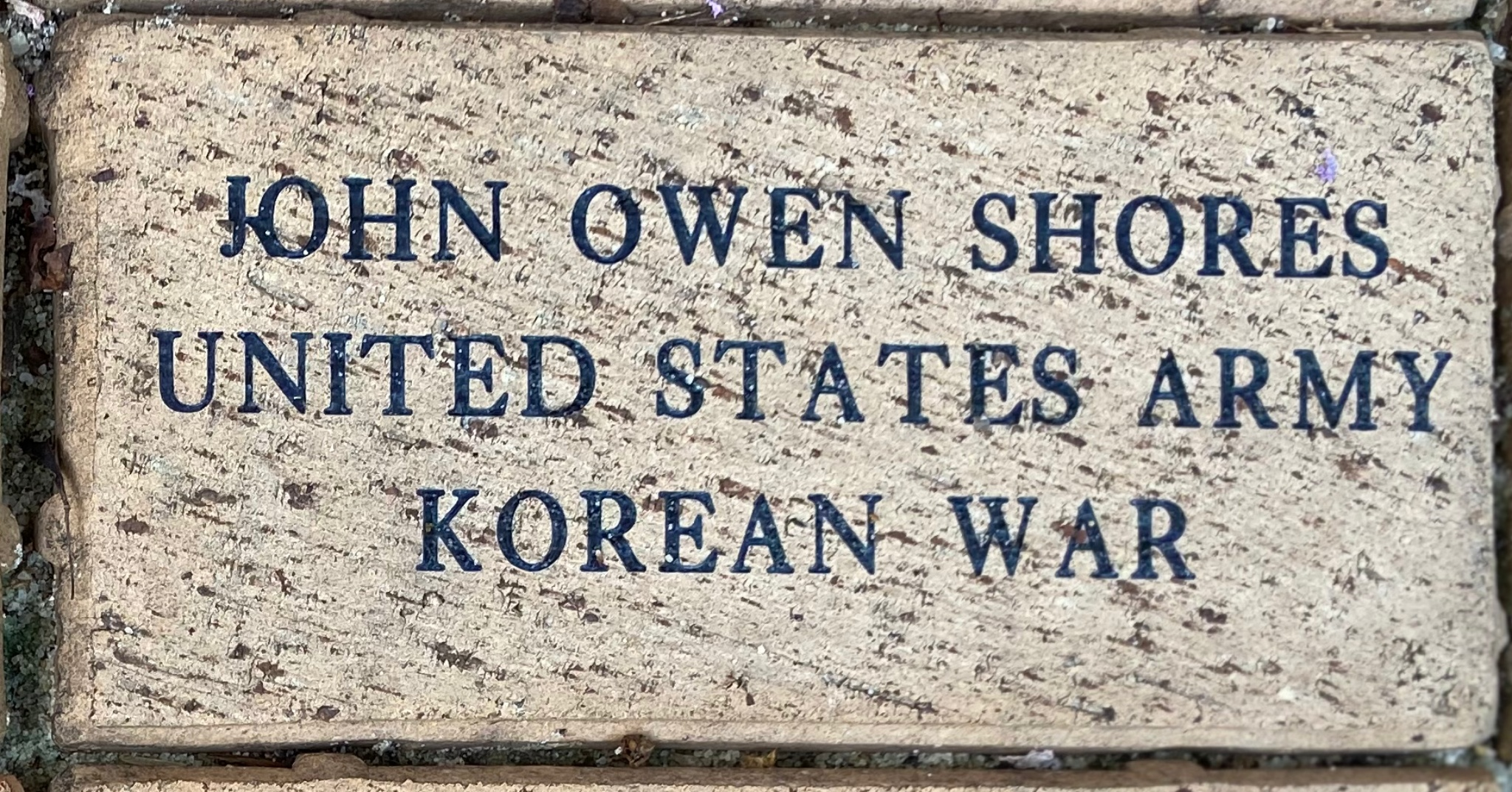 JOHN OWEN SHORES UNITED STATES ARMY KOREAN WAR