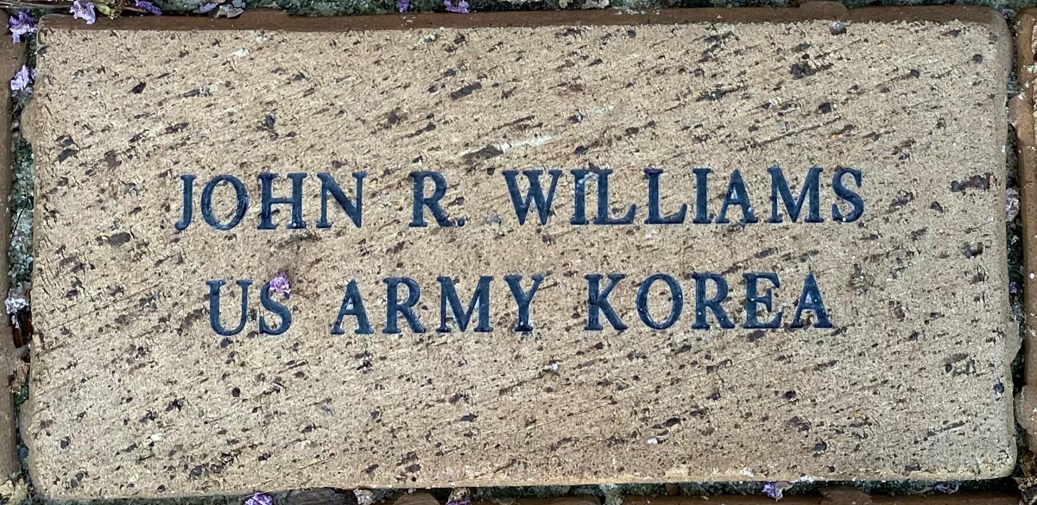 JOHN R WILLIAMS US ARMY KOREA