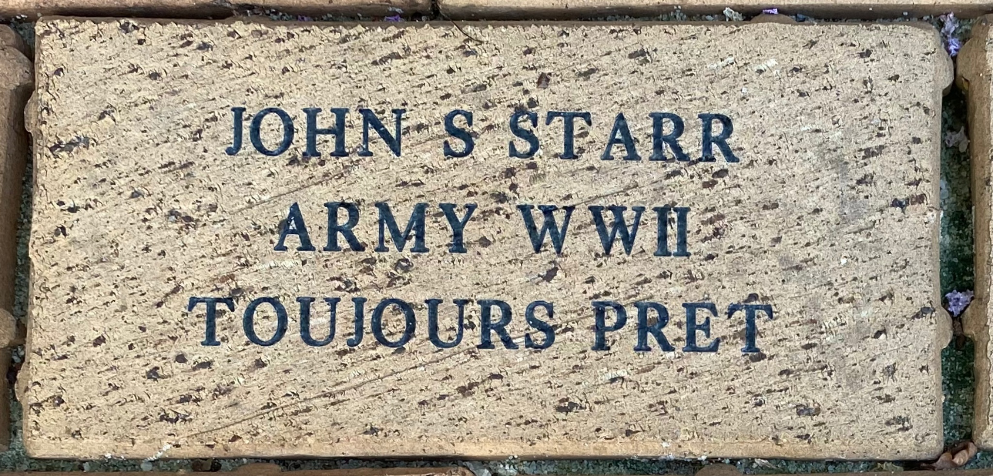 JOHN S STARR ARMY WWII TOUJOURS PRET