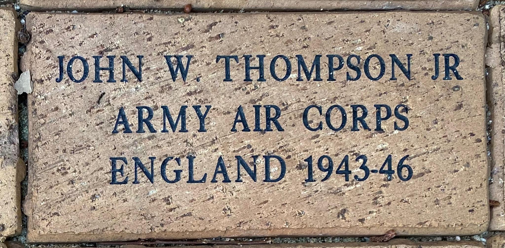 JOHN W THOMPSON JR ARMY AIR CORPS ENGLAND 1943-46