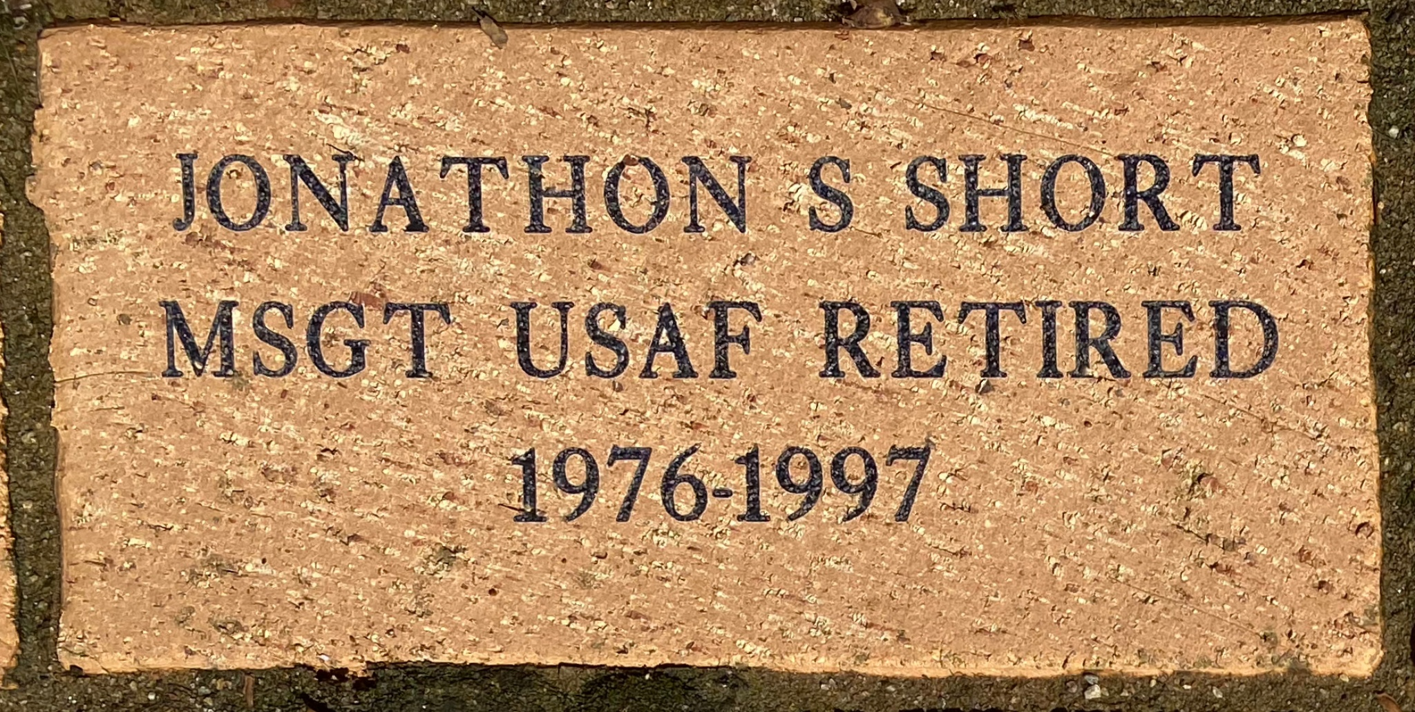 JONATHON S SHORT MSGT USAF RETIRED 1976-1997