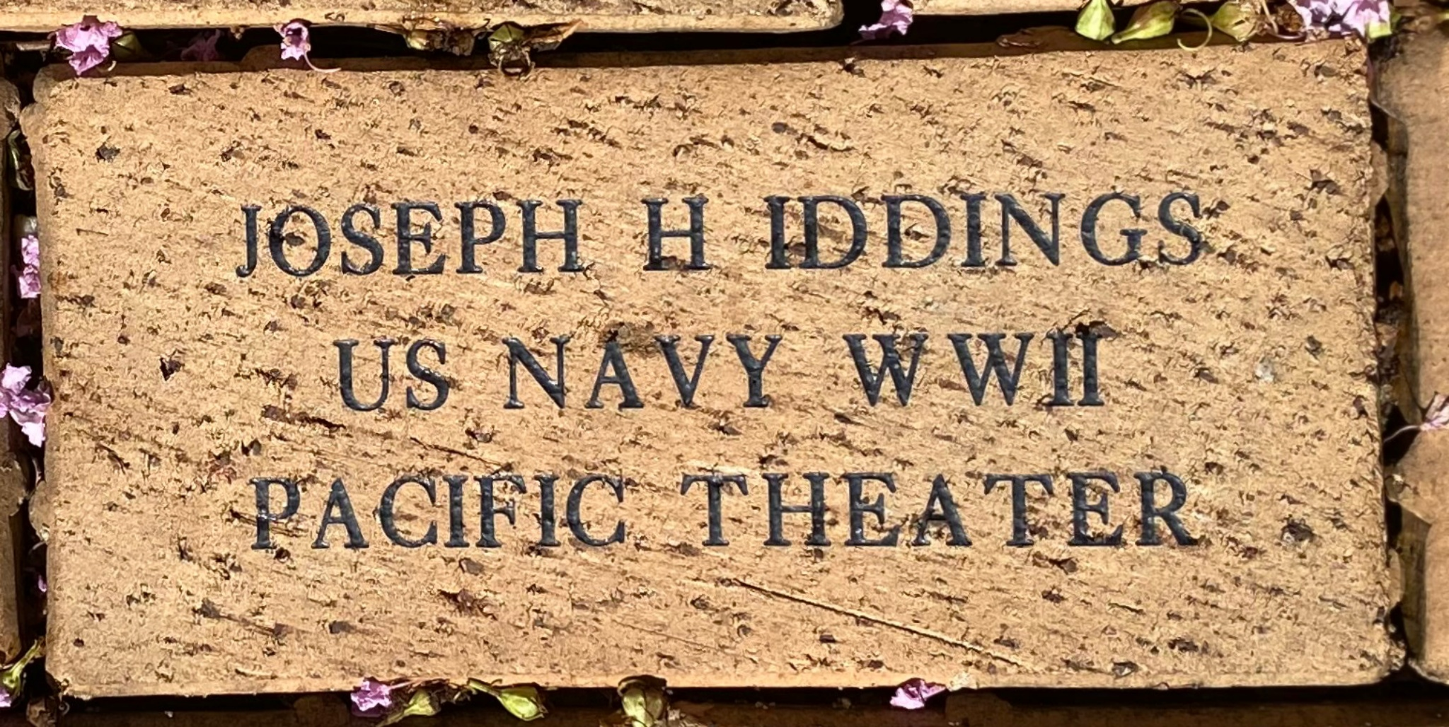 JOSEPH H IDDINGS US NAVY WWII PACIFIC THEATER