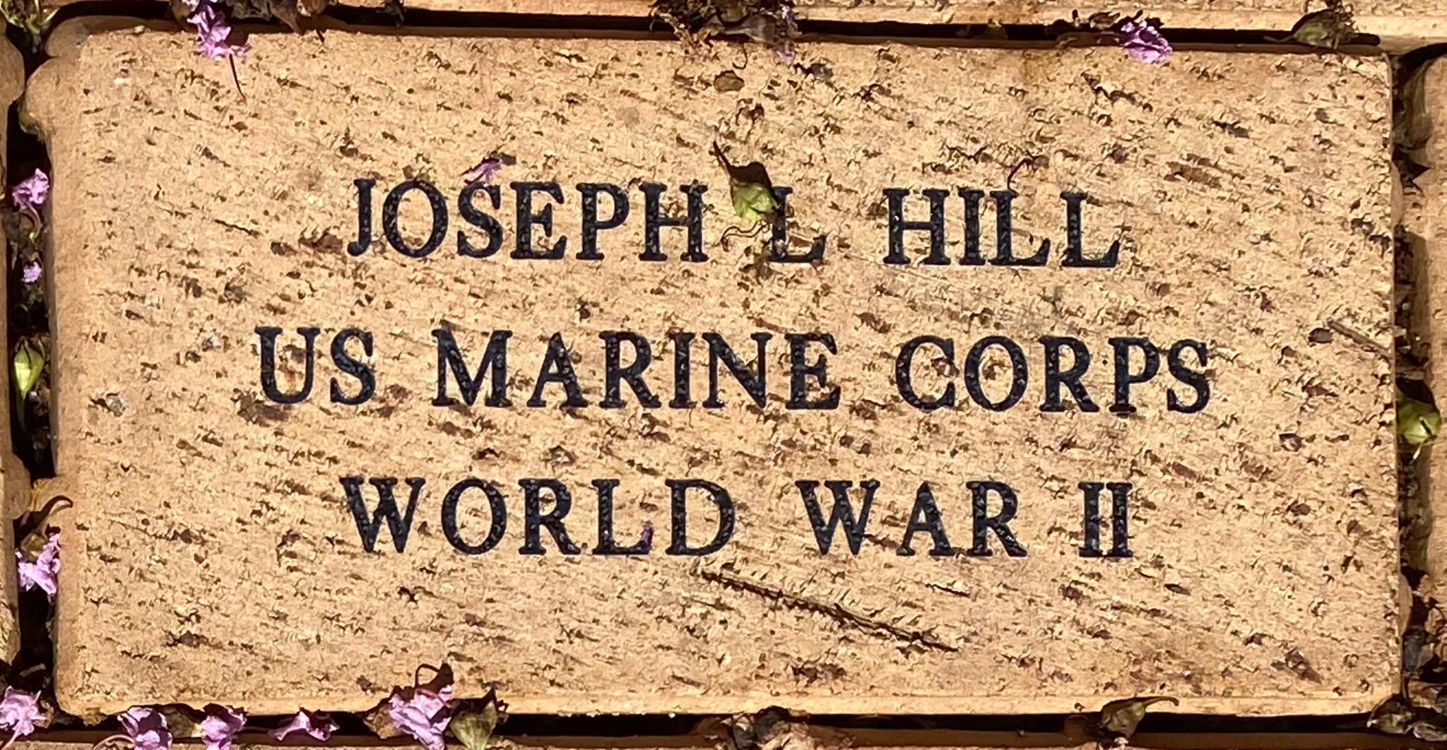 JOSEPH L HILL US MARINE CORPS WORLD WAR II