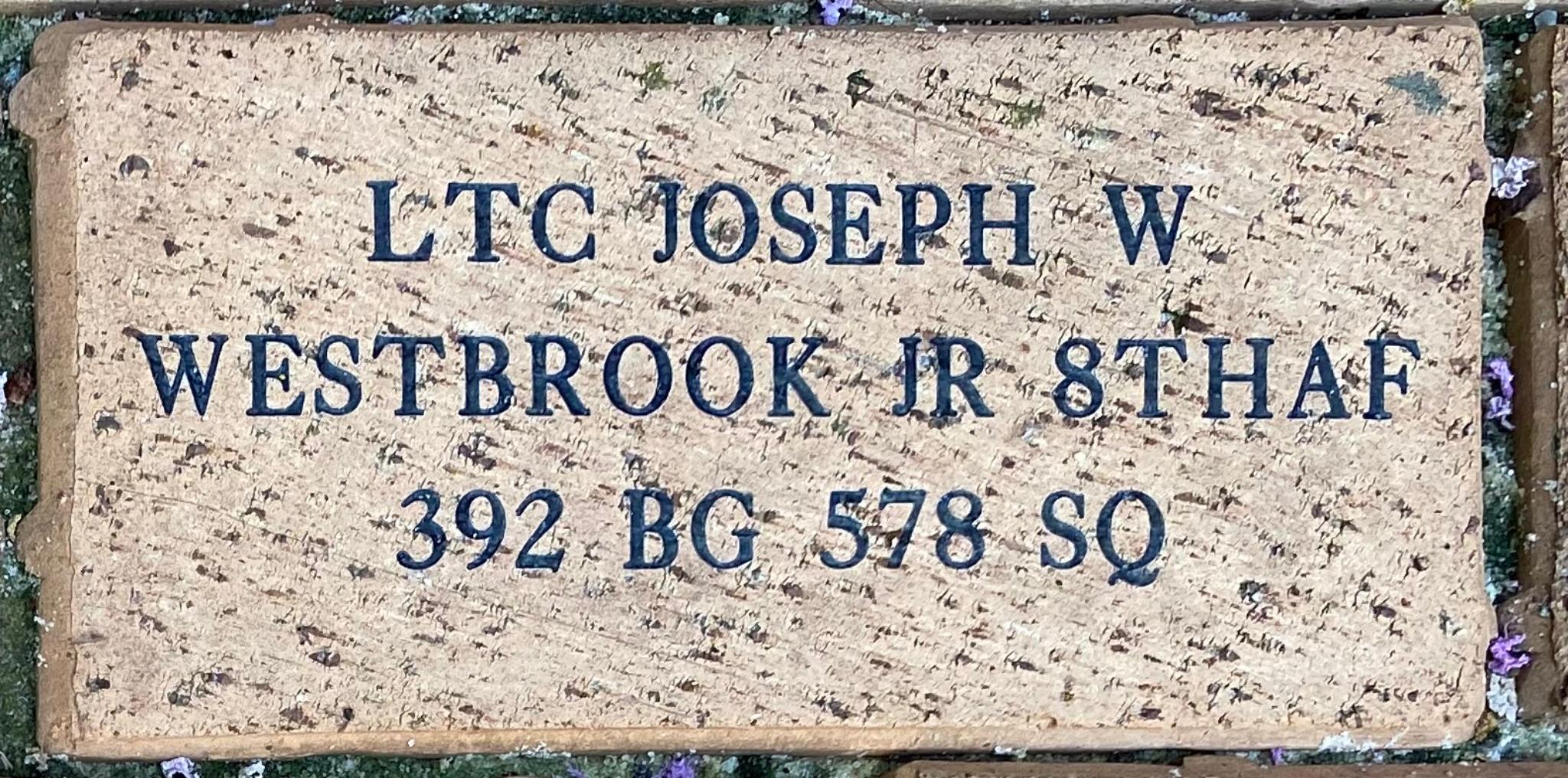 LTC JOSEPH W WESTBROOK JR 8THAF 392 BG 578 SQ